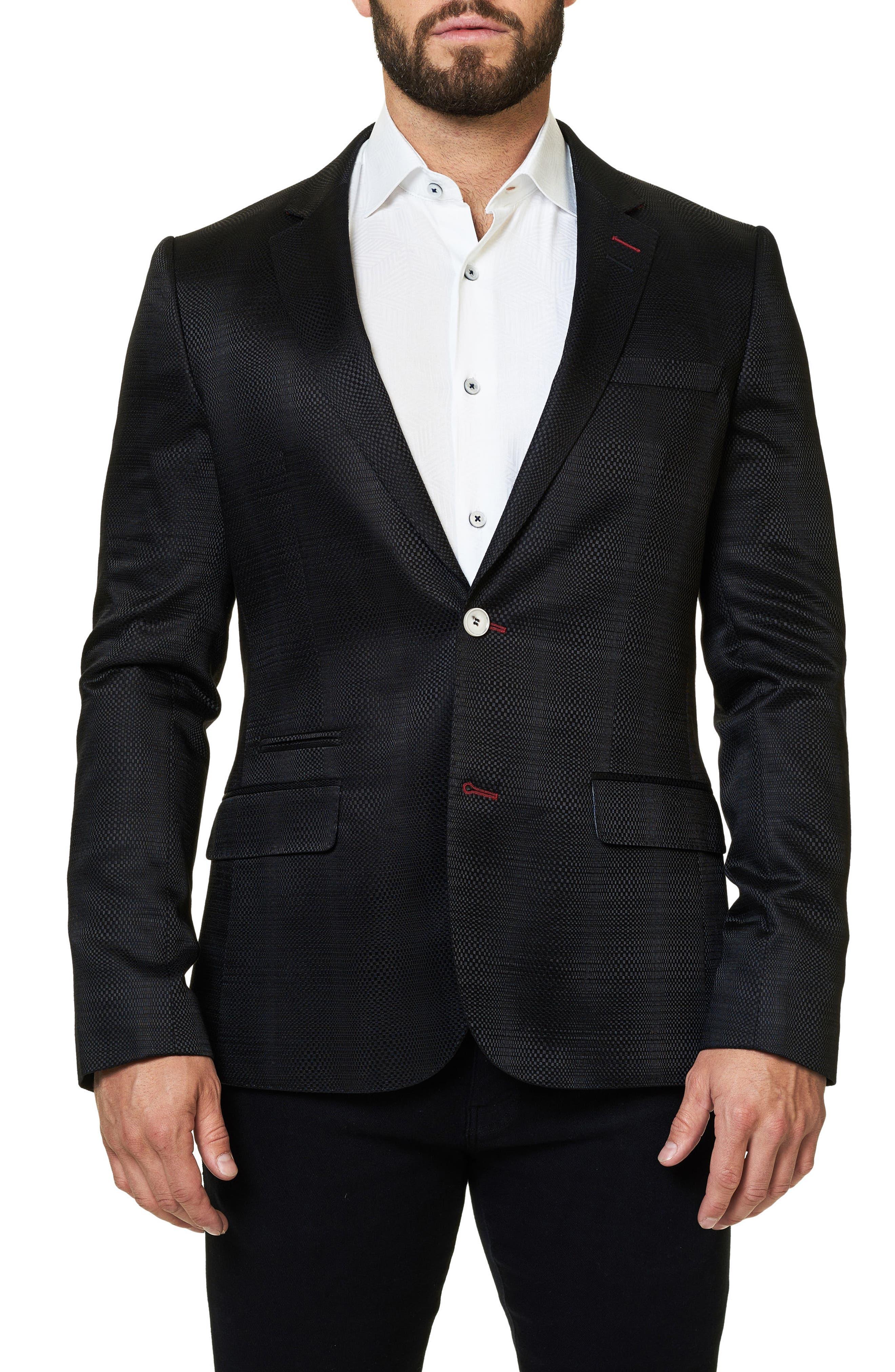 Socrate Woven Sport Coat,                         Main,                         color, Solid Black