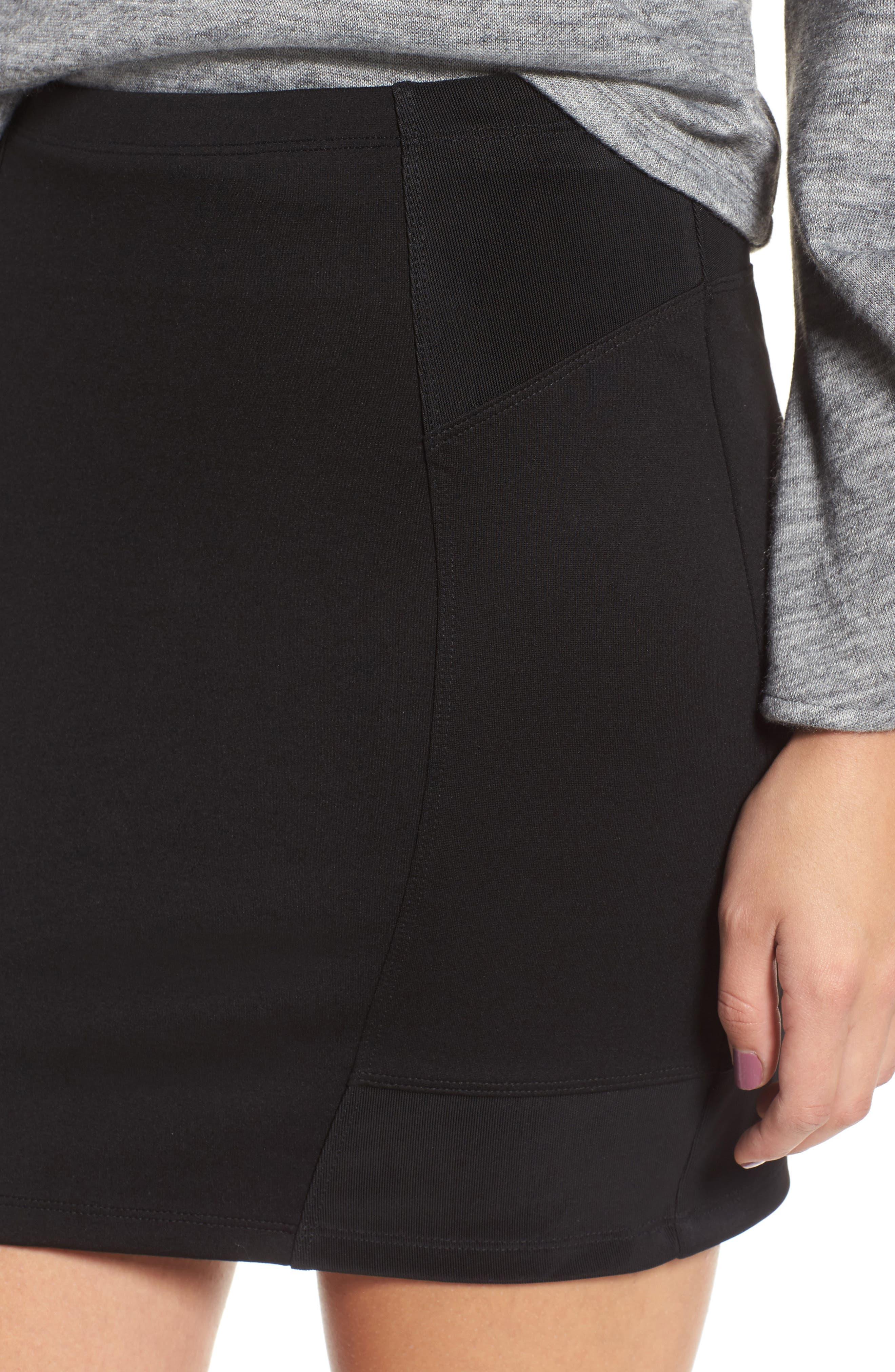Alternate Image 4  - Leith Ribbed Miniskirt
