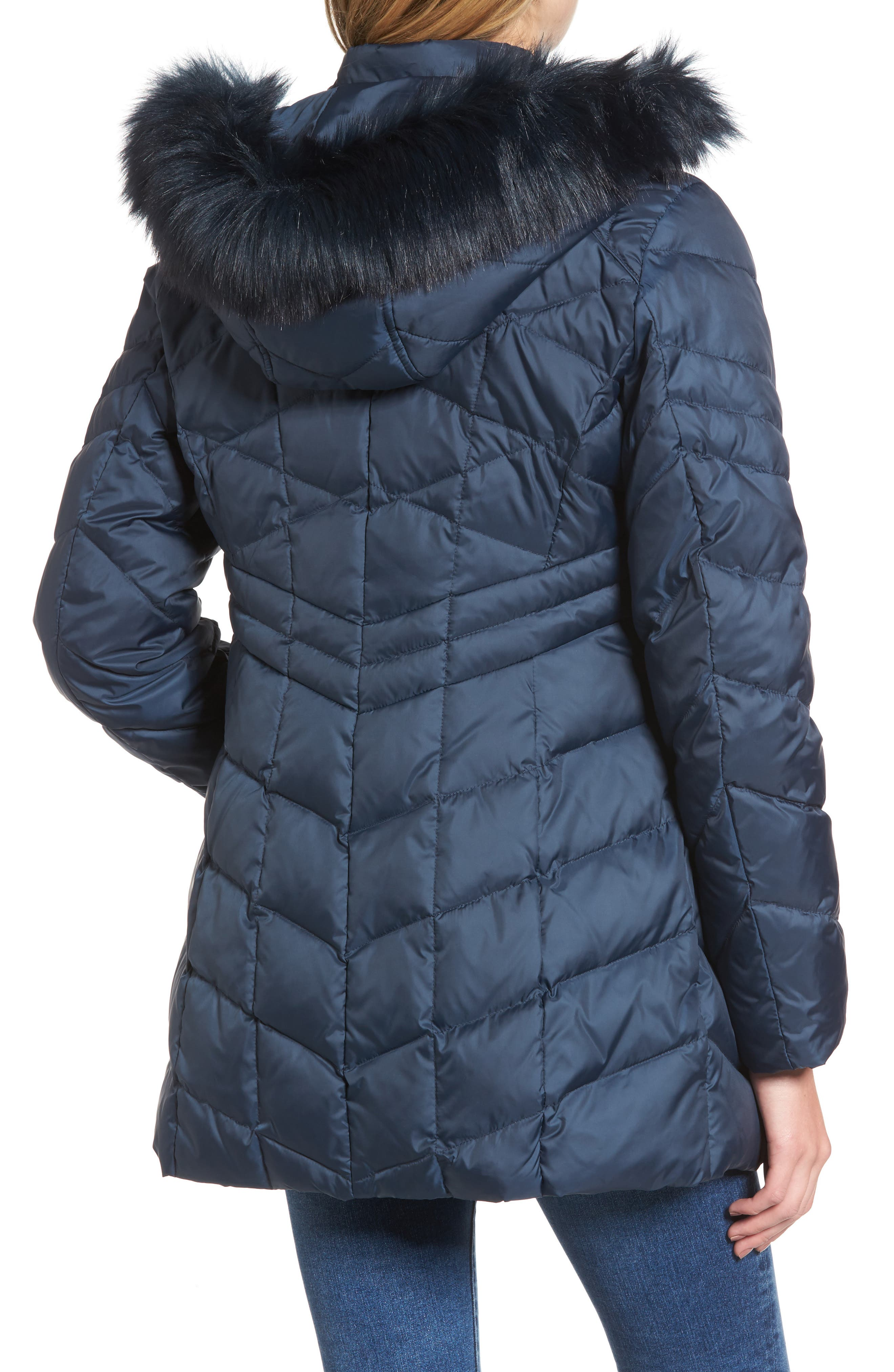 Alternate Image 2  - Andrew Marc Marley 30 Coat with Detachable Faux Fur