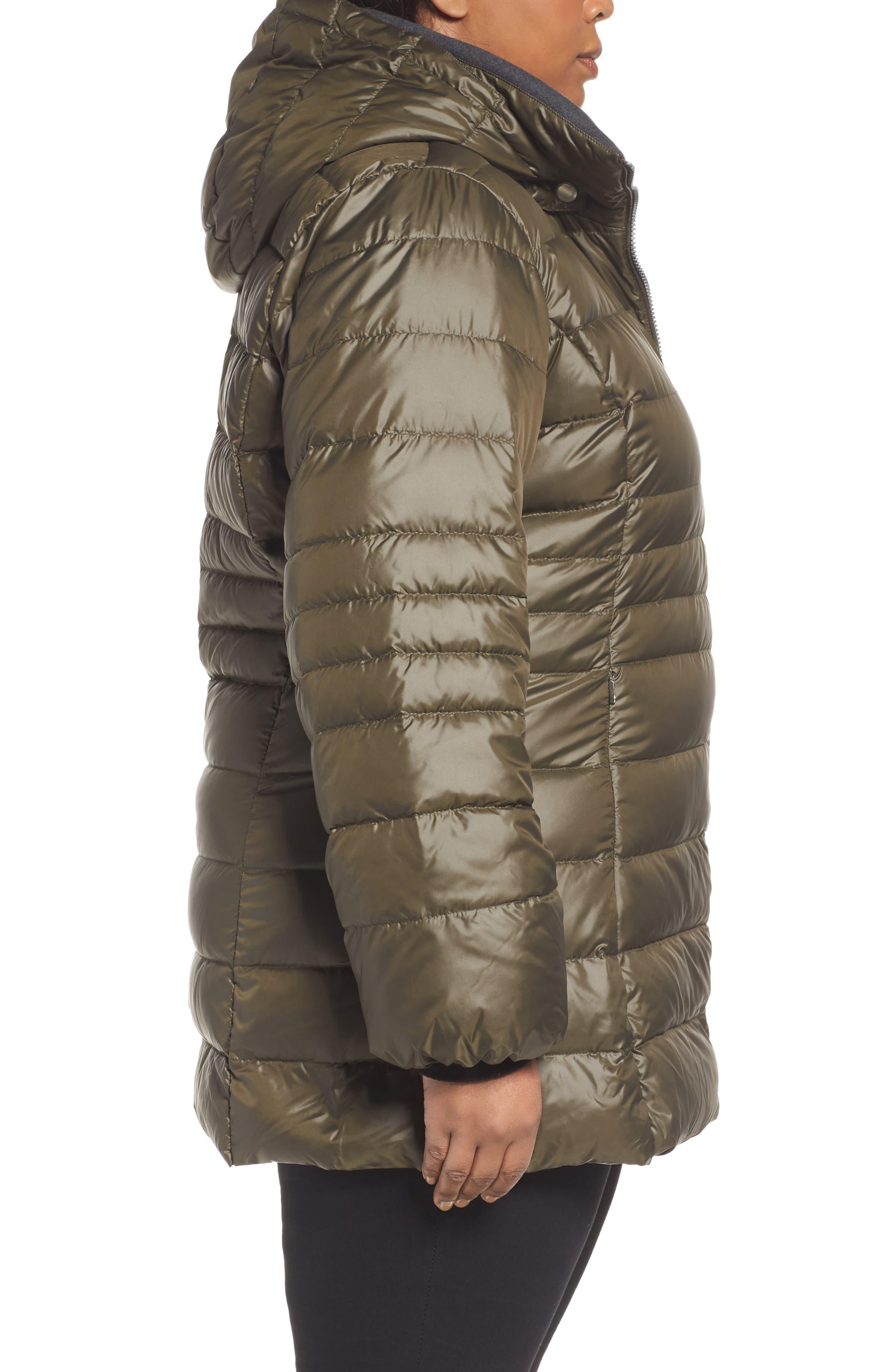 Alternate Image 3  - Andrew Marc Erin Hooded Down Coat (Plus Size)