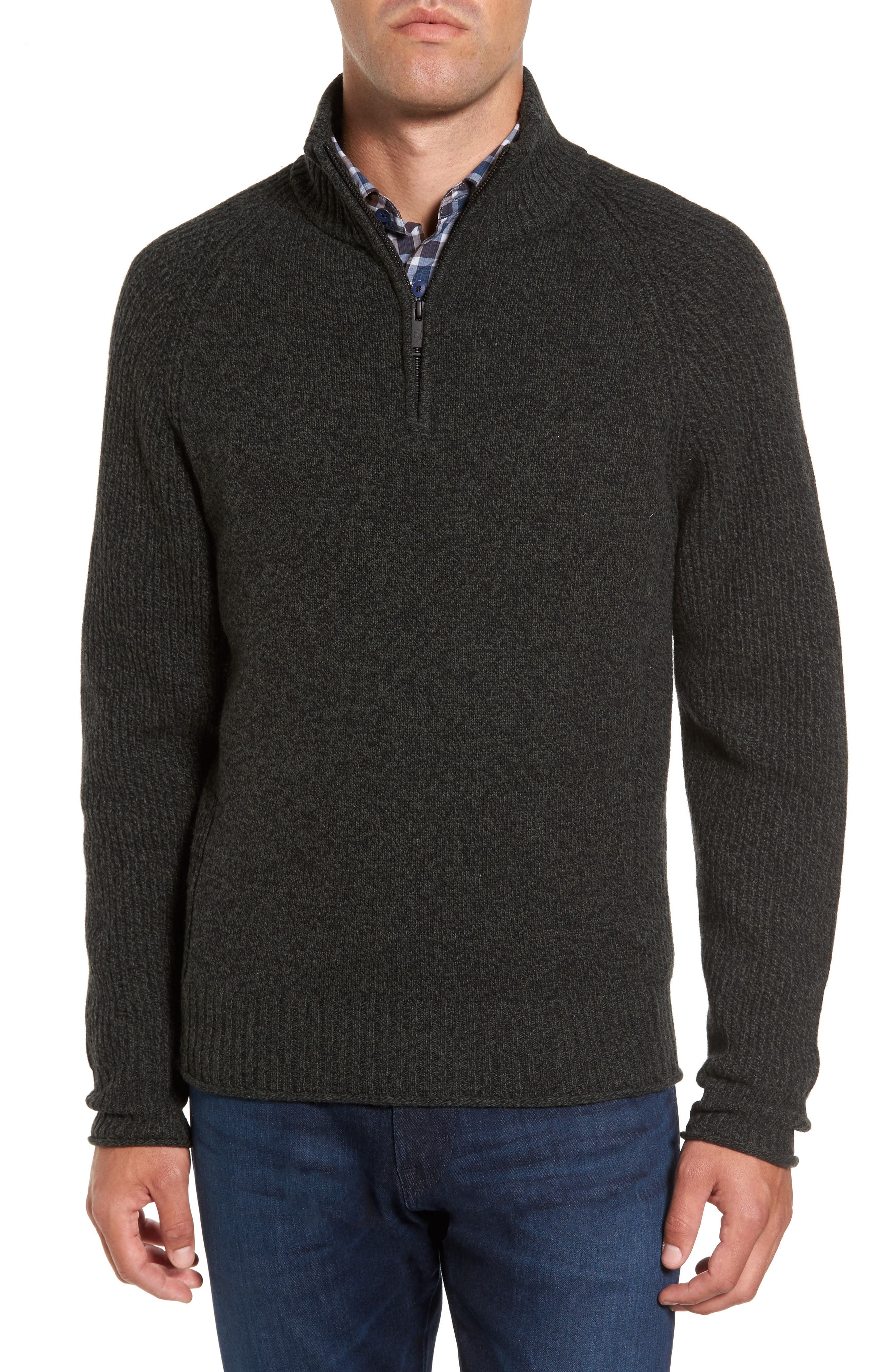 Stredwick Lambswool Sweater,                             Main thumbnail 1, color,                             Forest