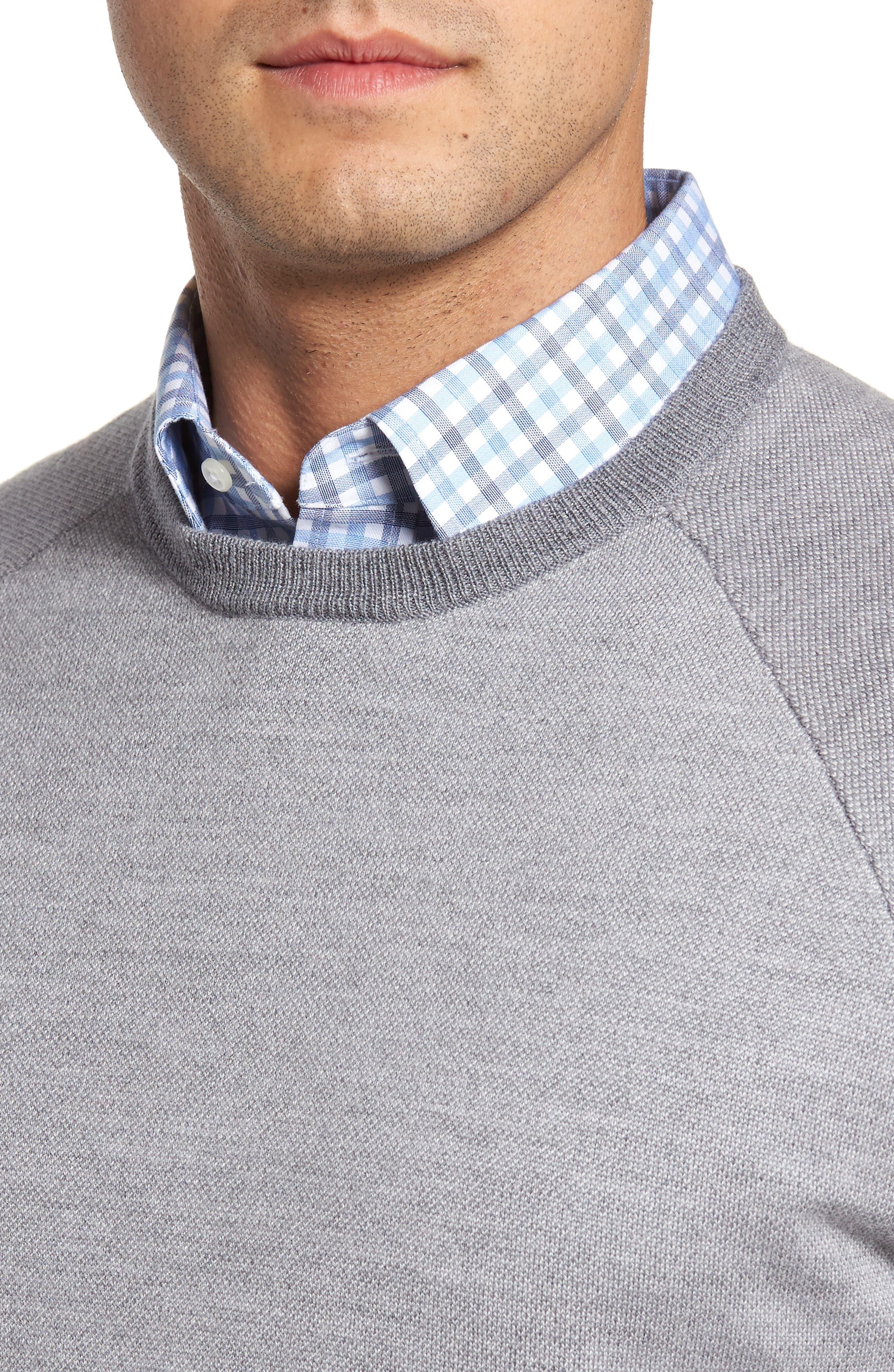 Soltice Merino Sweater,                             Alternate thumbnail 4, color,                             Stingray