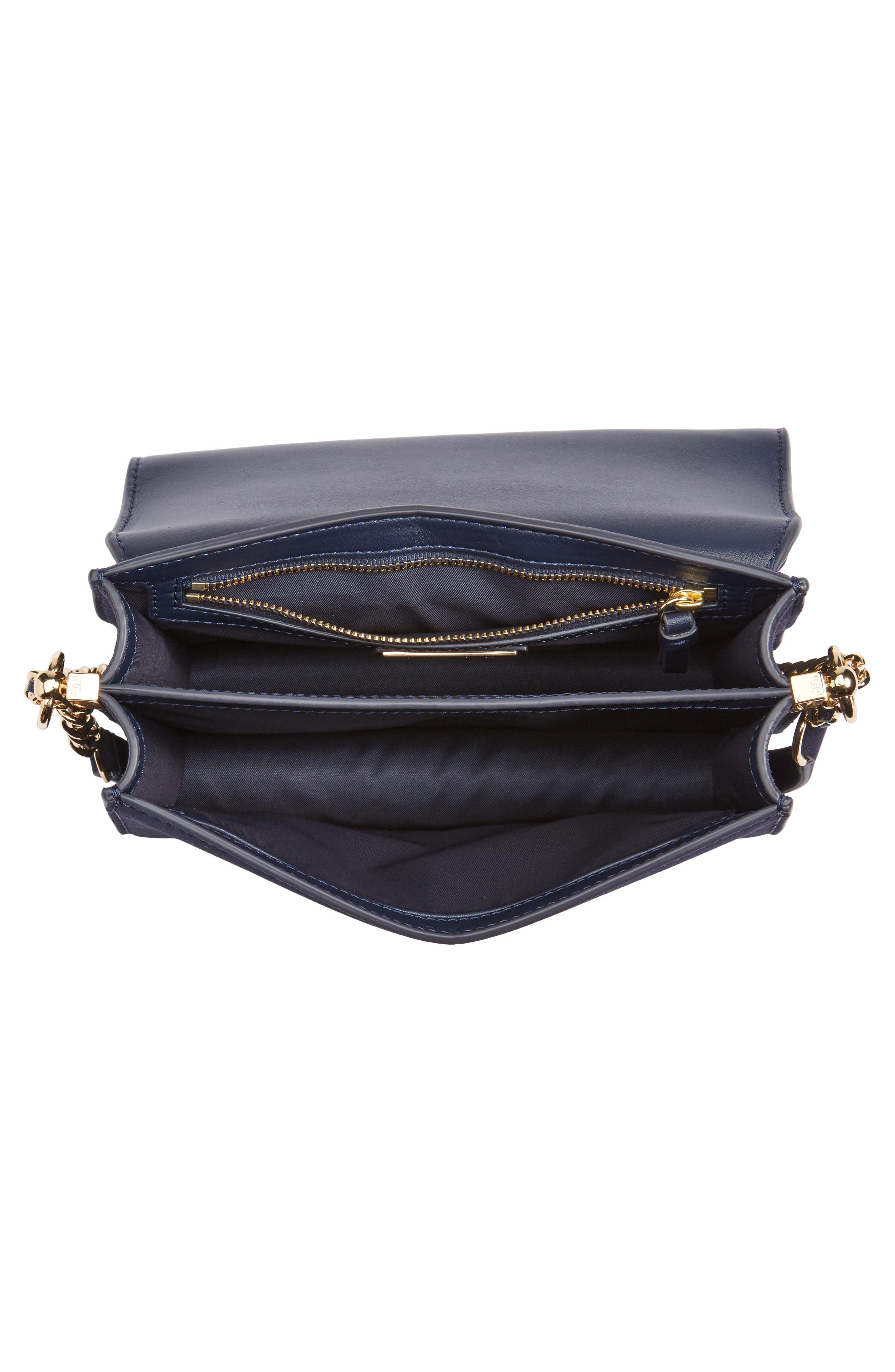 Alternate Image 3  - Tory Burch Parker Flower Embroidered Leather Shoulder/Crossbody Bag
