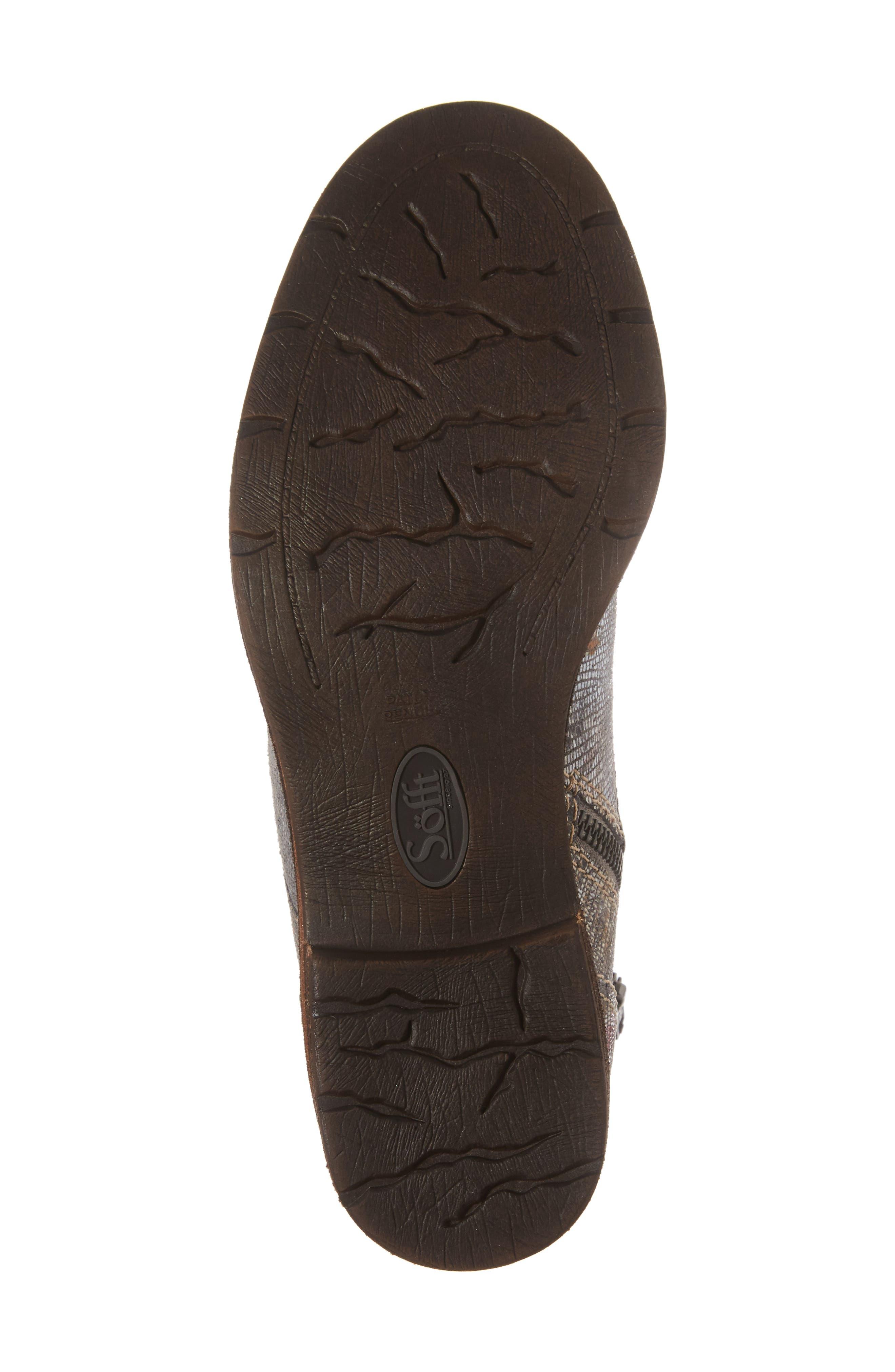 Belton Cap Toe Combat Boot,                             Alternate thumbnail 6, color,                             Grey Leather