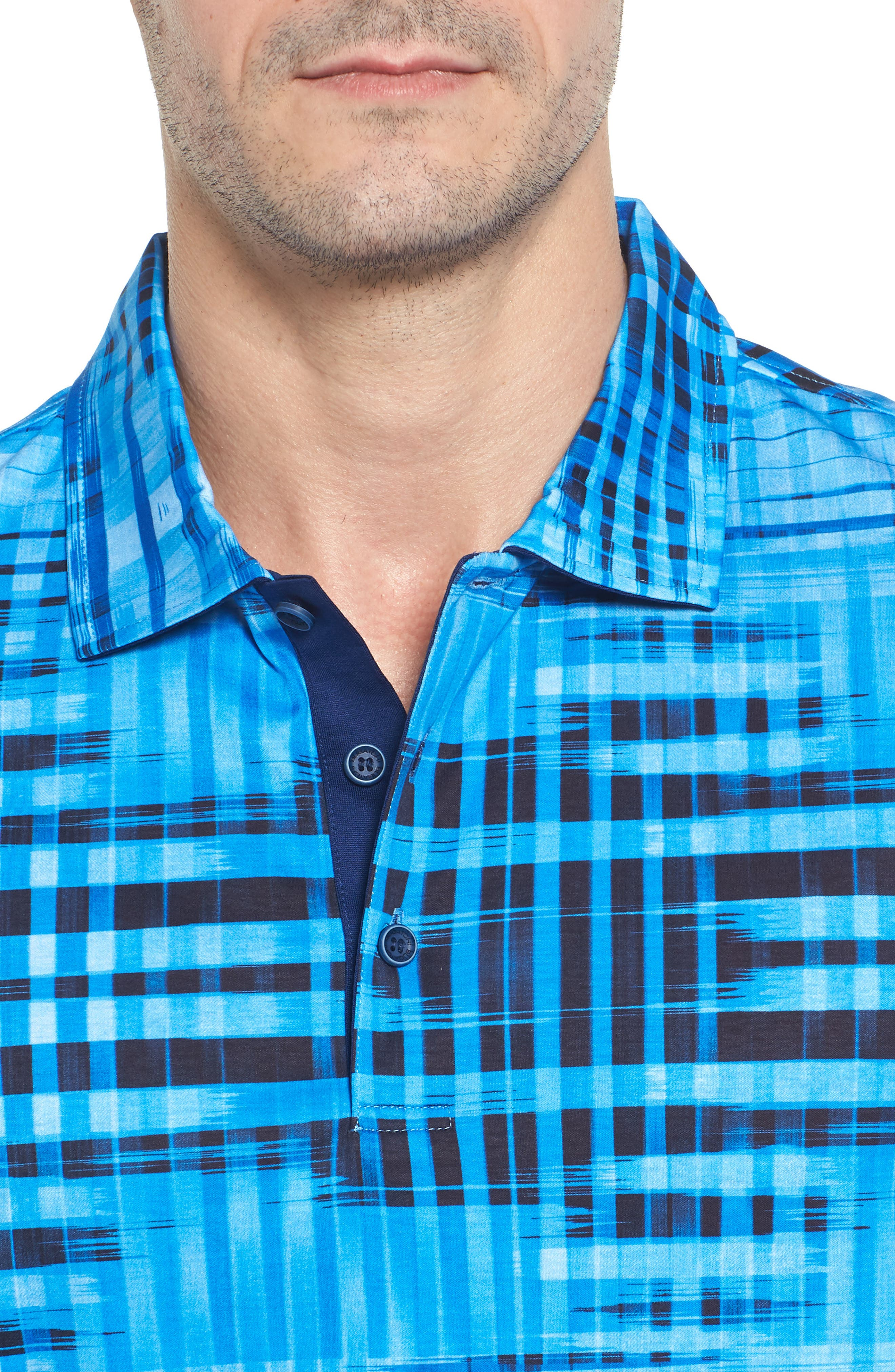 Alternate Image 4  - Bugatchi Classic Fit Print Polo