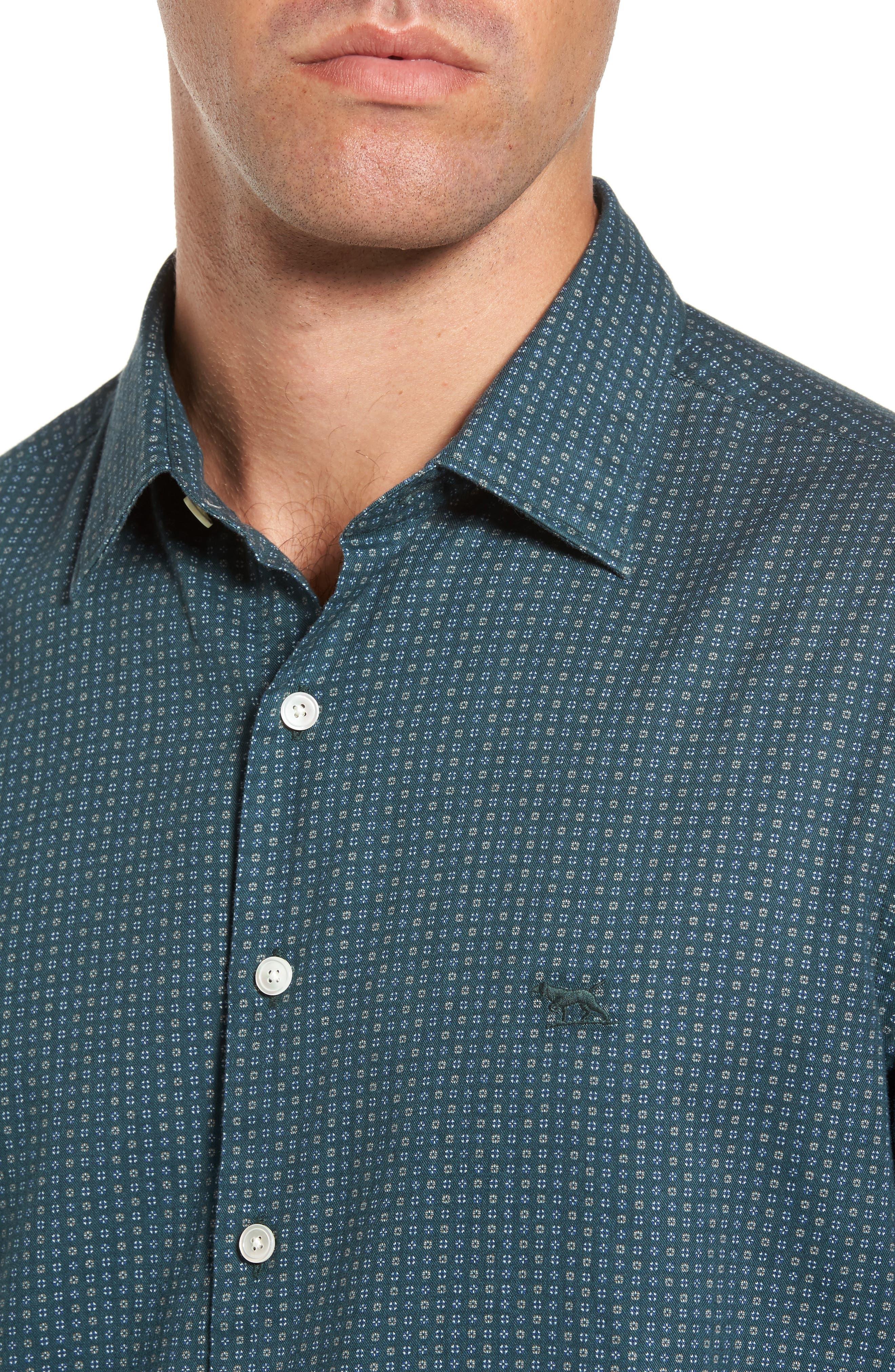 Alternate Image 4  - Rodd & Gunn Oreti Beach Sports Fit Floral Print Sport Shirt