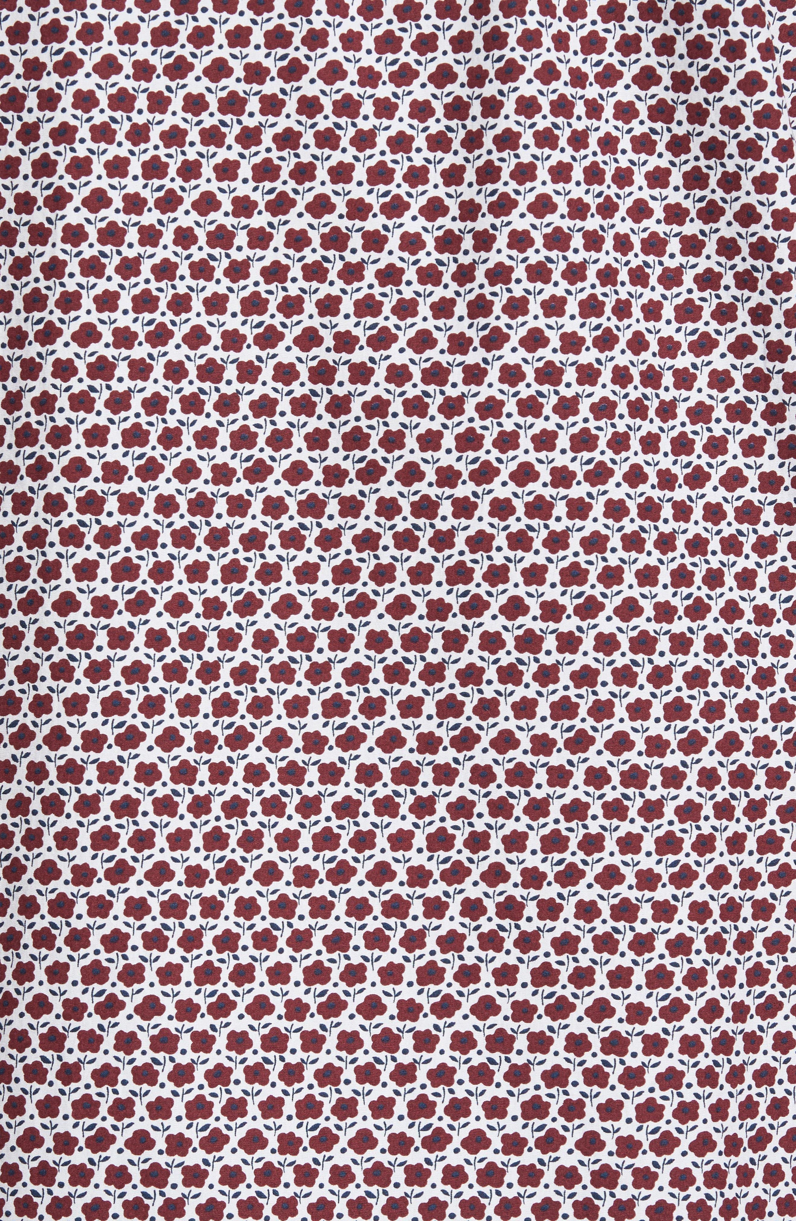 Trafalgar Original Fit Sport Shirt,                             Alternate thumbnail 5, color,                             Port