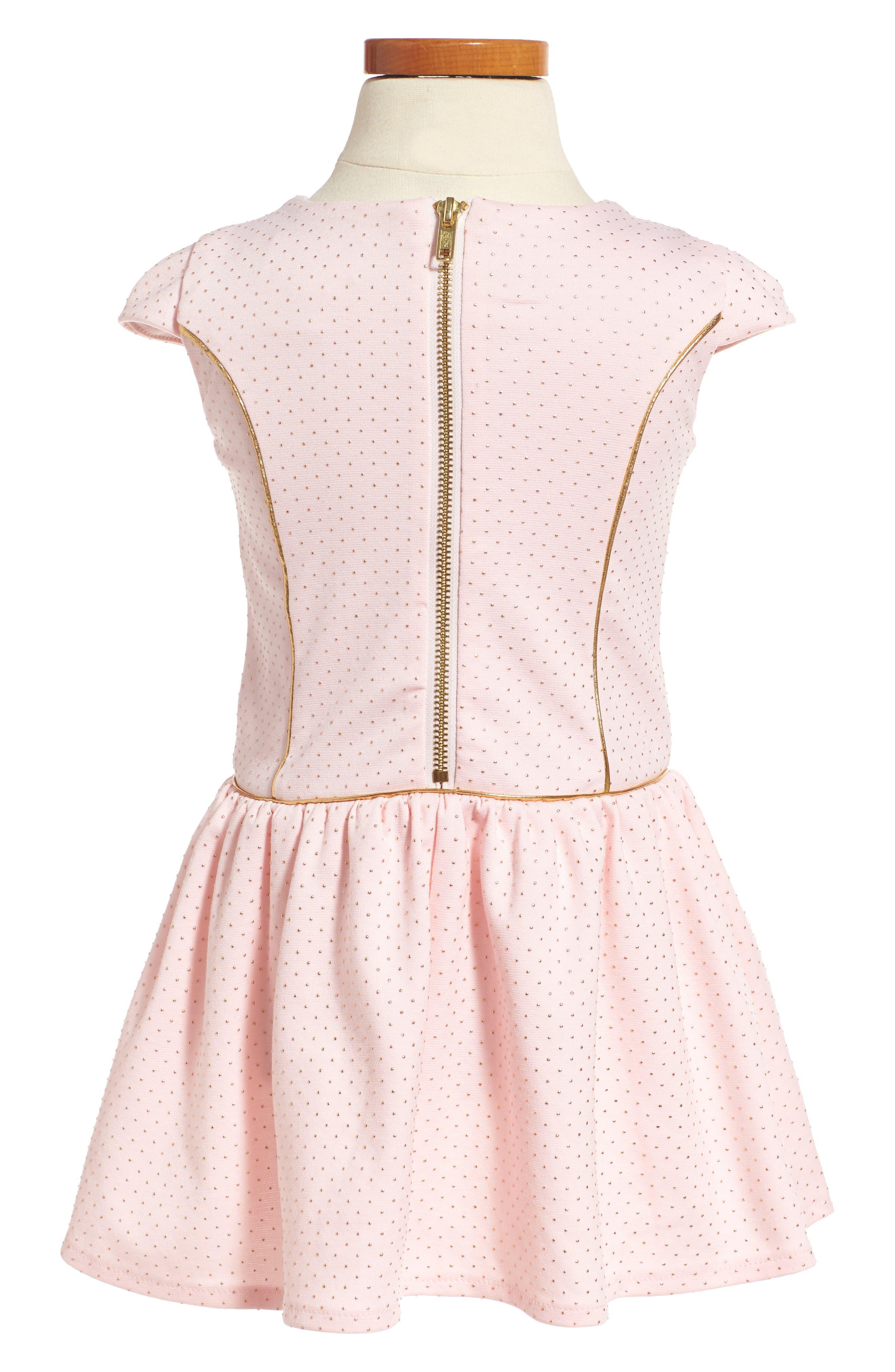 Alternate Image 2  - Little Angels Princess Drop Waist Dress (Toddler Girls & Little Girls)