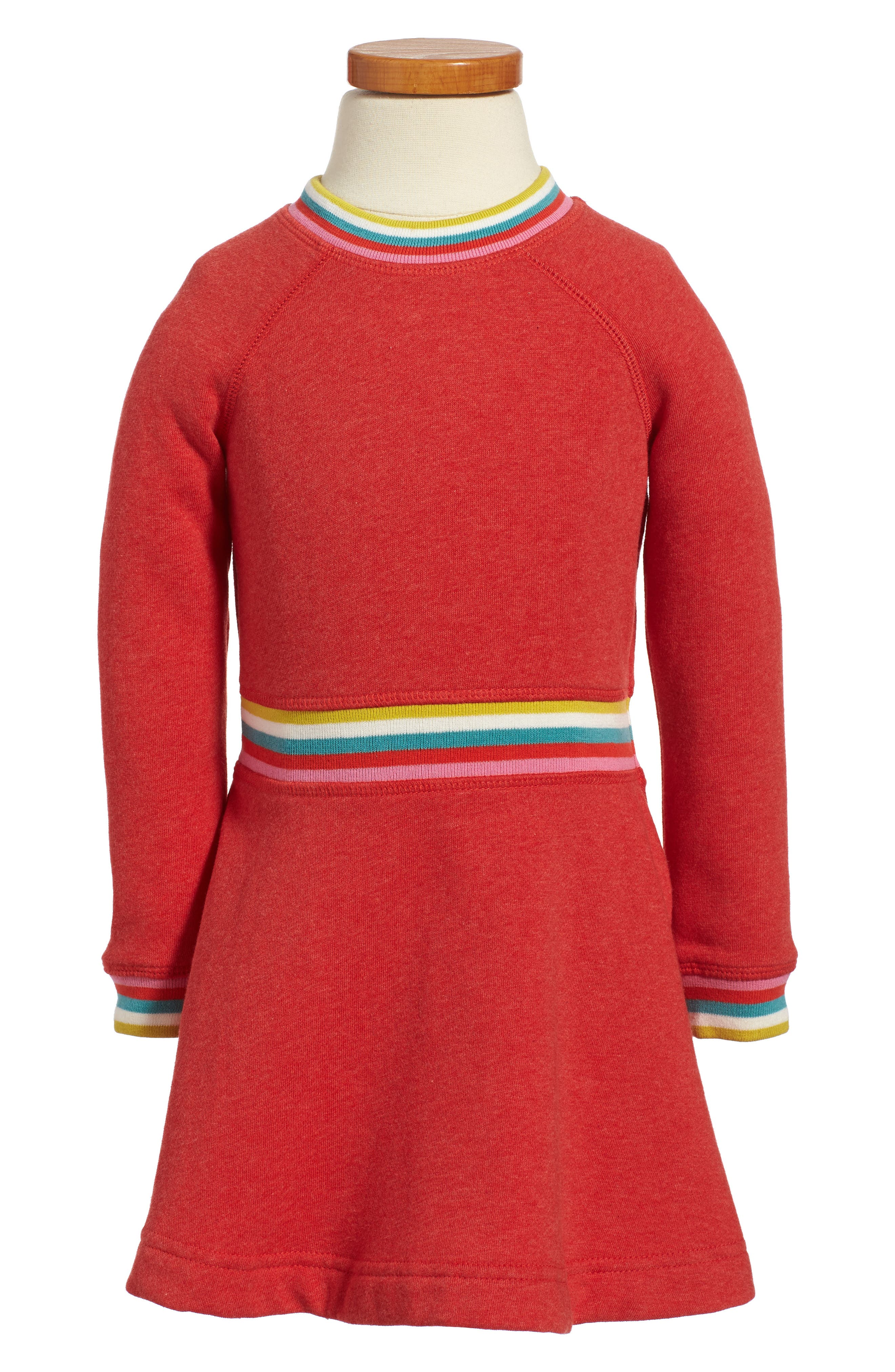 Main Image - Mini Boden Cosy Sweatshirt Dress (Toddler Girls, Little Girls & Big Girls)
