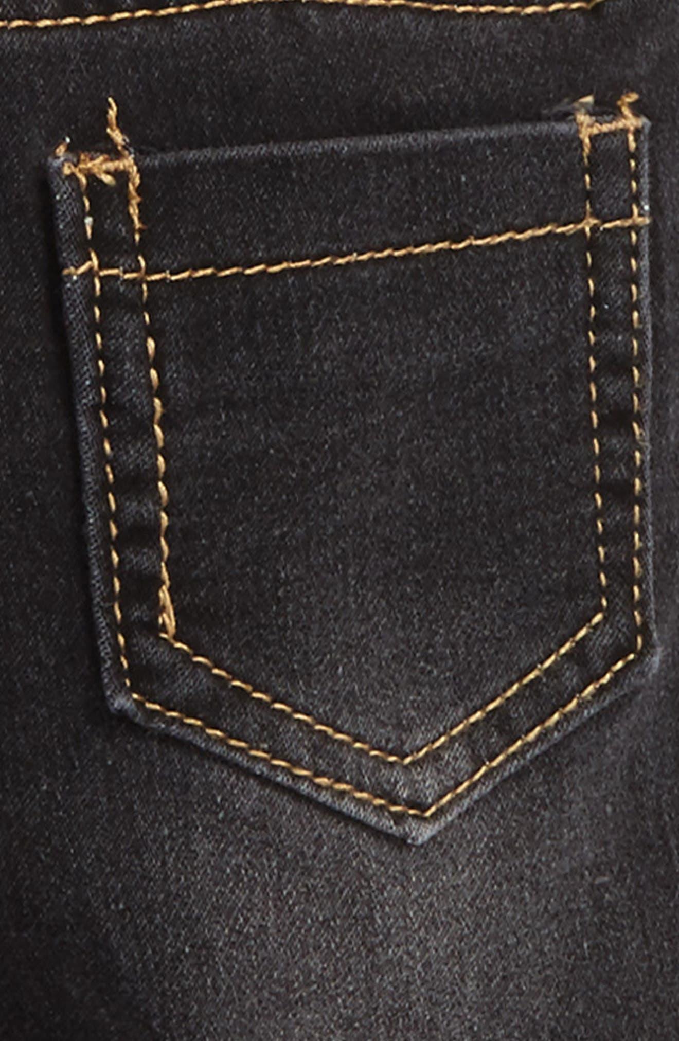 Alternate Image 3  - Rosie Pope Appliqué Suspender Denim Pants (Baby Boys)