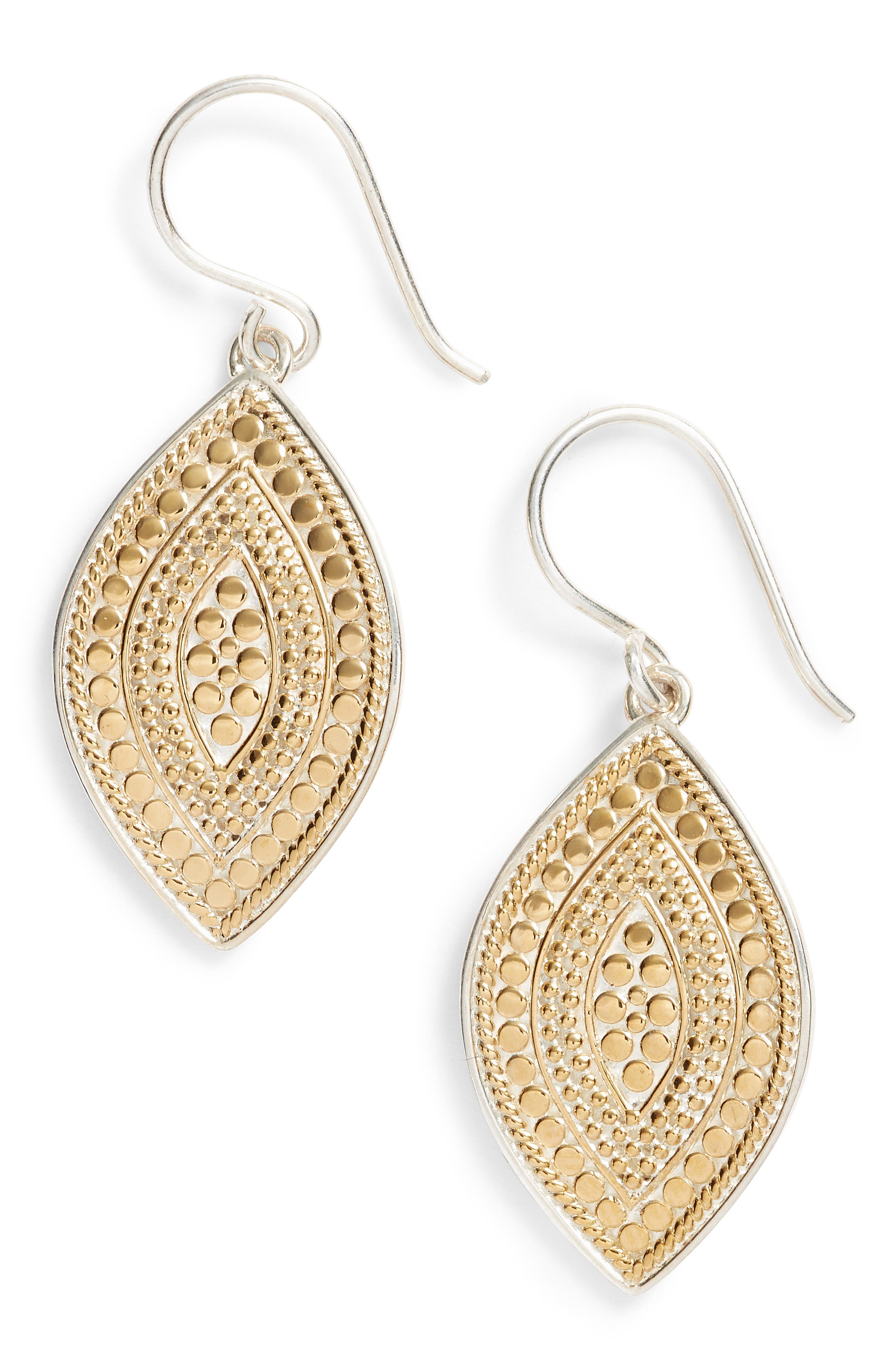 Drop Earrings,                         Main,                         color, Gold/ Silver