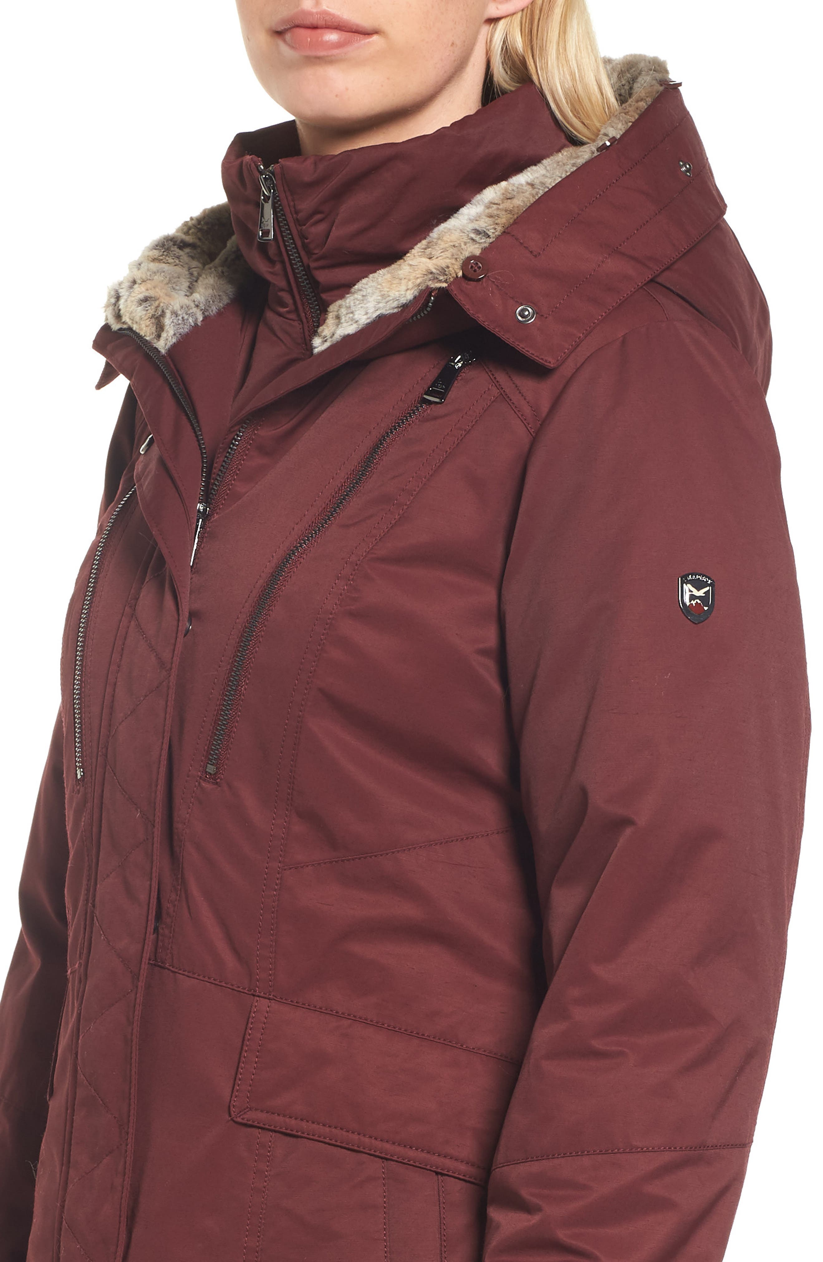 Alternate Image 4  - 1 Madison Insulated Parka with Faux Fur Trim