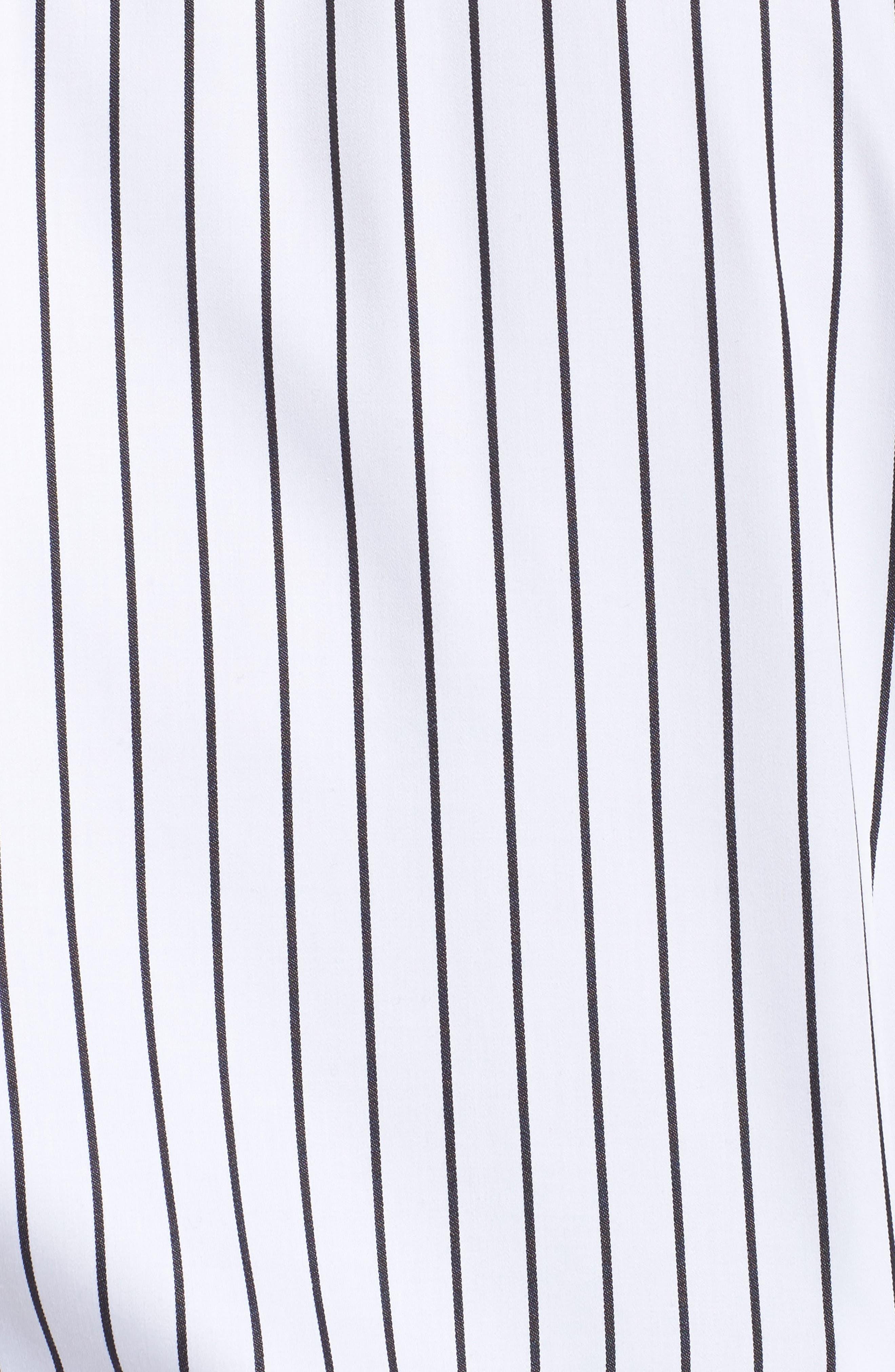 Alternate Image 6  - Foxcroft Annie Holiday Stripe Shirt (Plus Size)