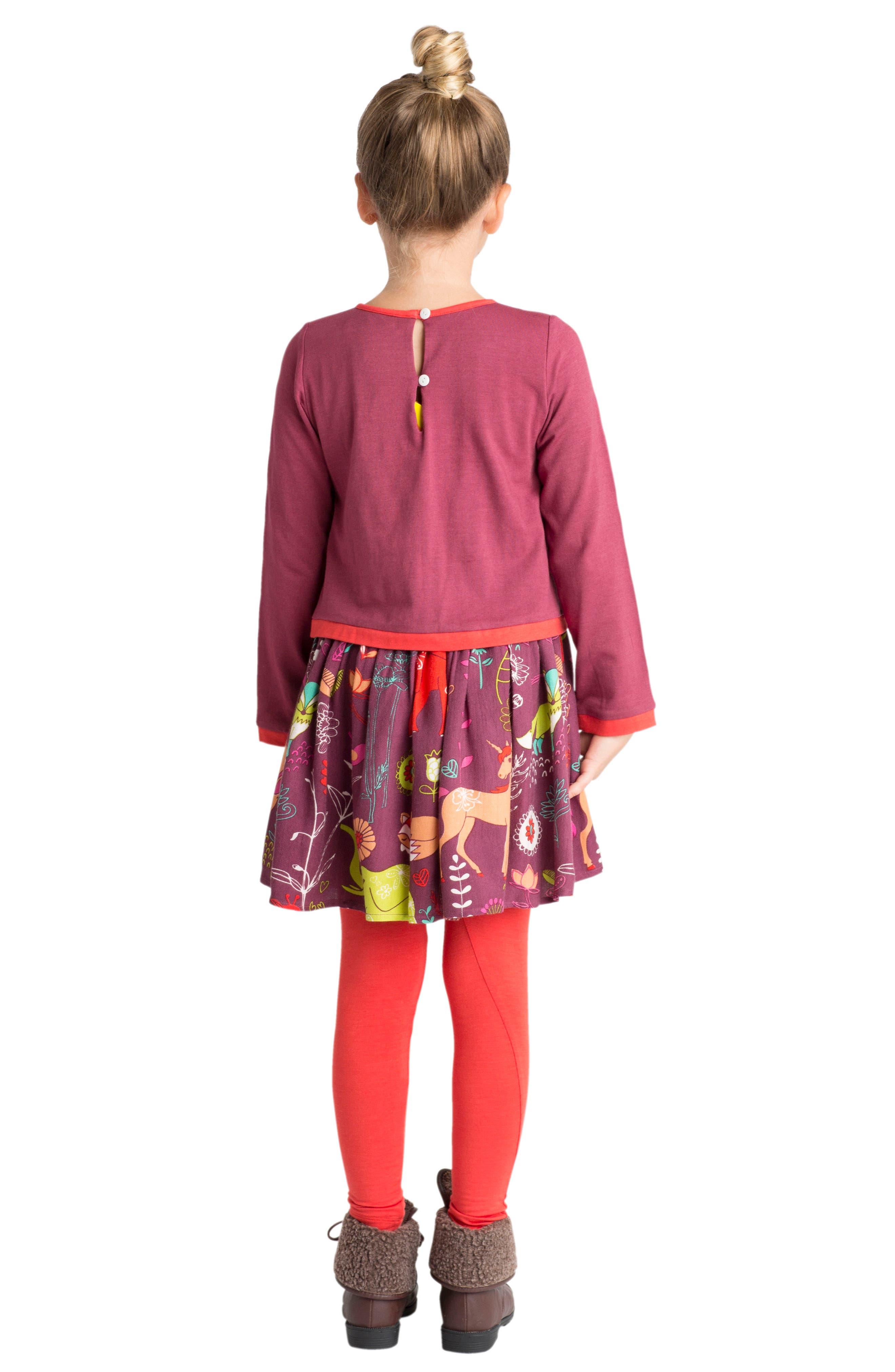 Forest Hills Dress,                             Alternate thumbnail 2, color,                             Burgundy