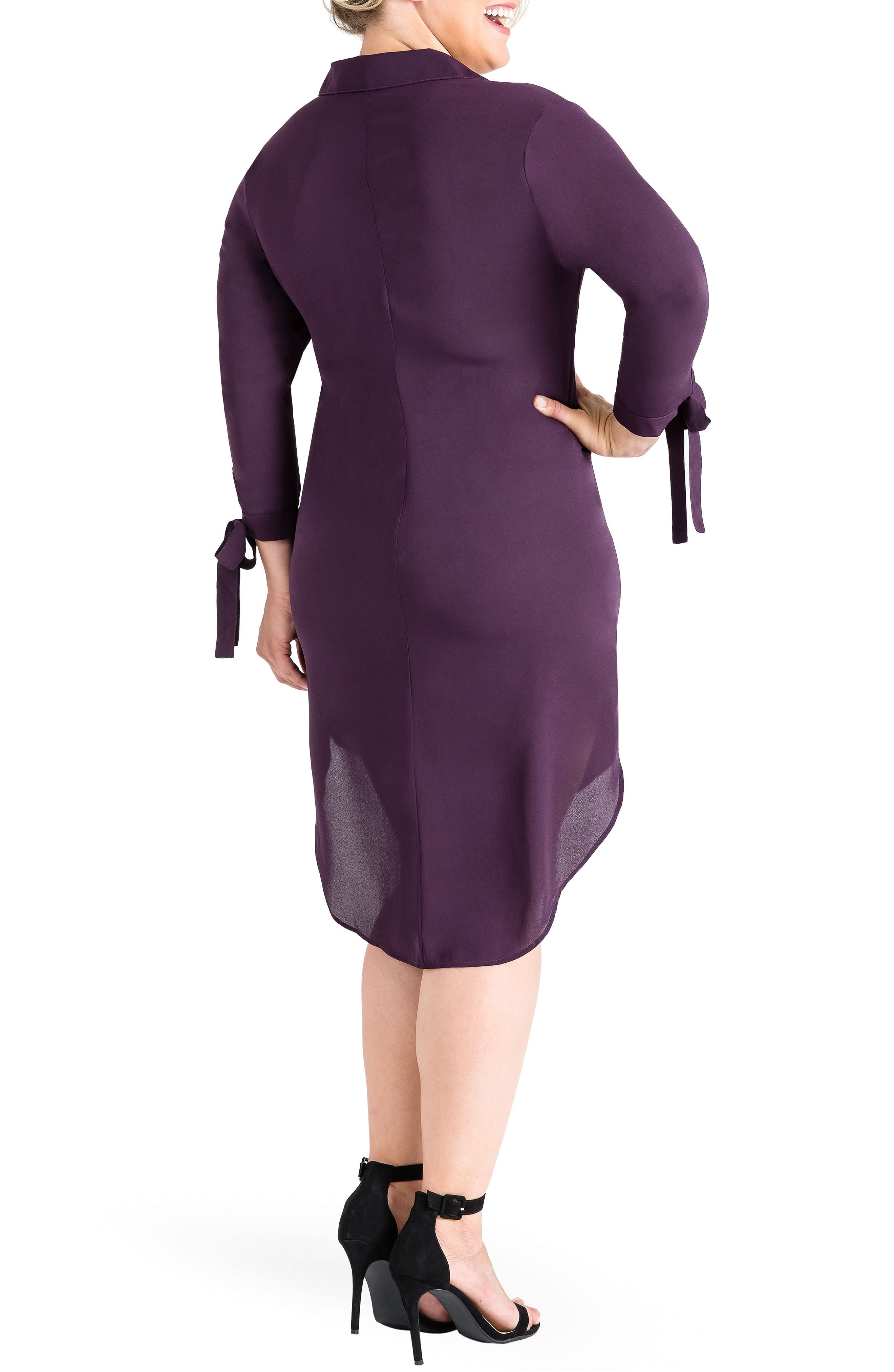 Jay High/Low Shirtdress,                             Alternate thumbnail 2, color,                             Purple