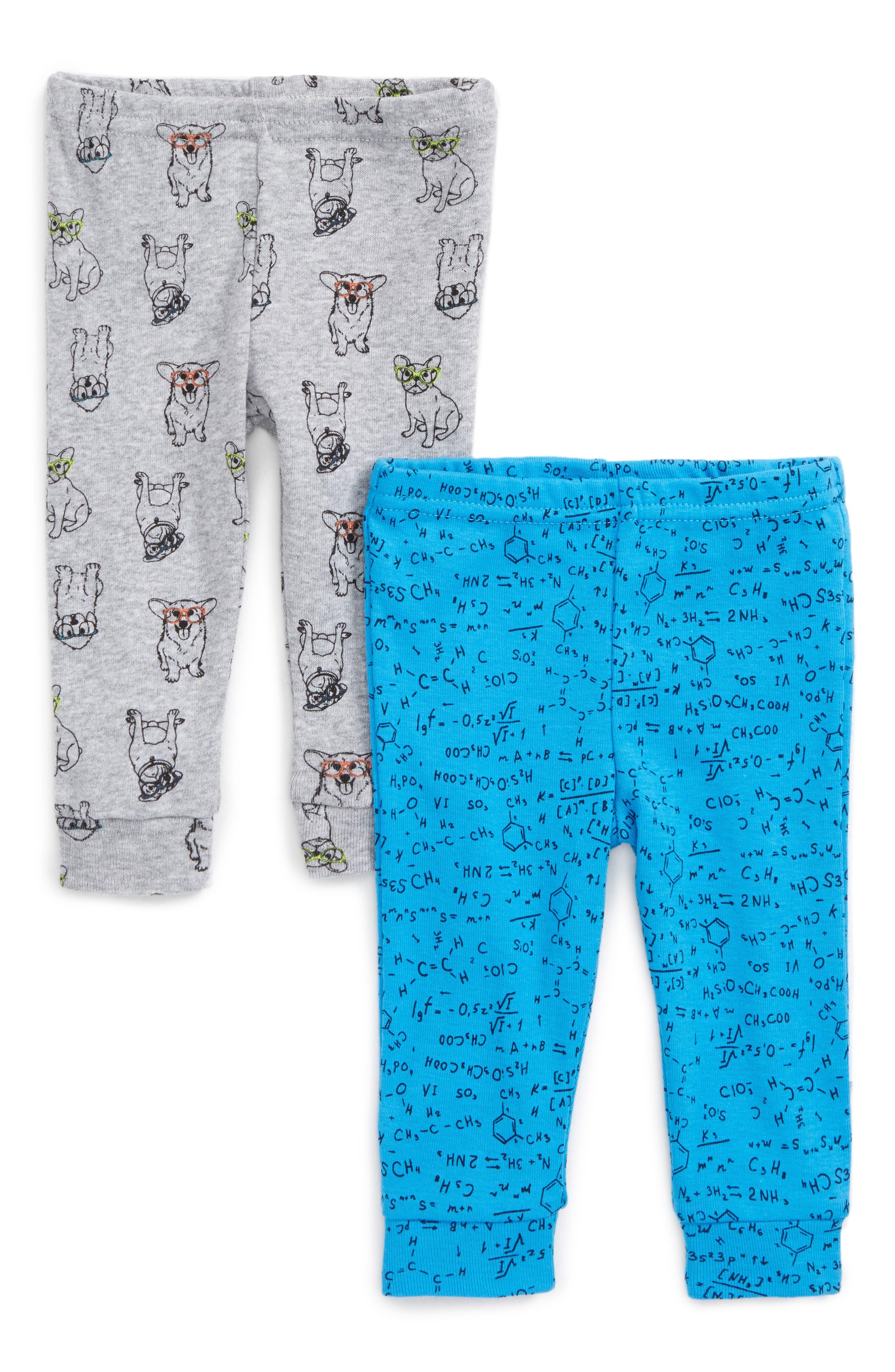 2-Pack Print Leggings,                         Main,                         color, Grey Multi