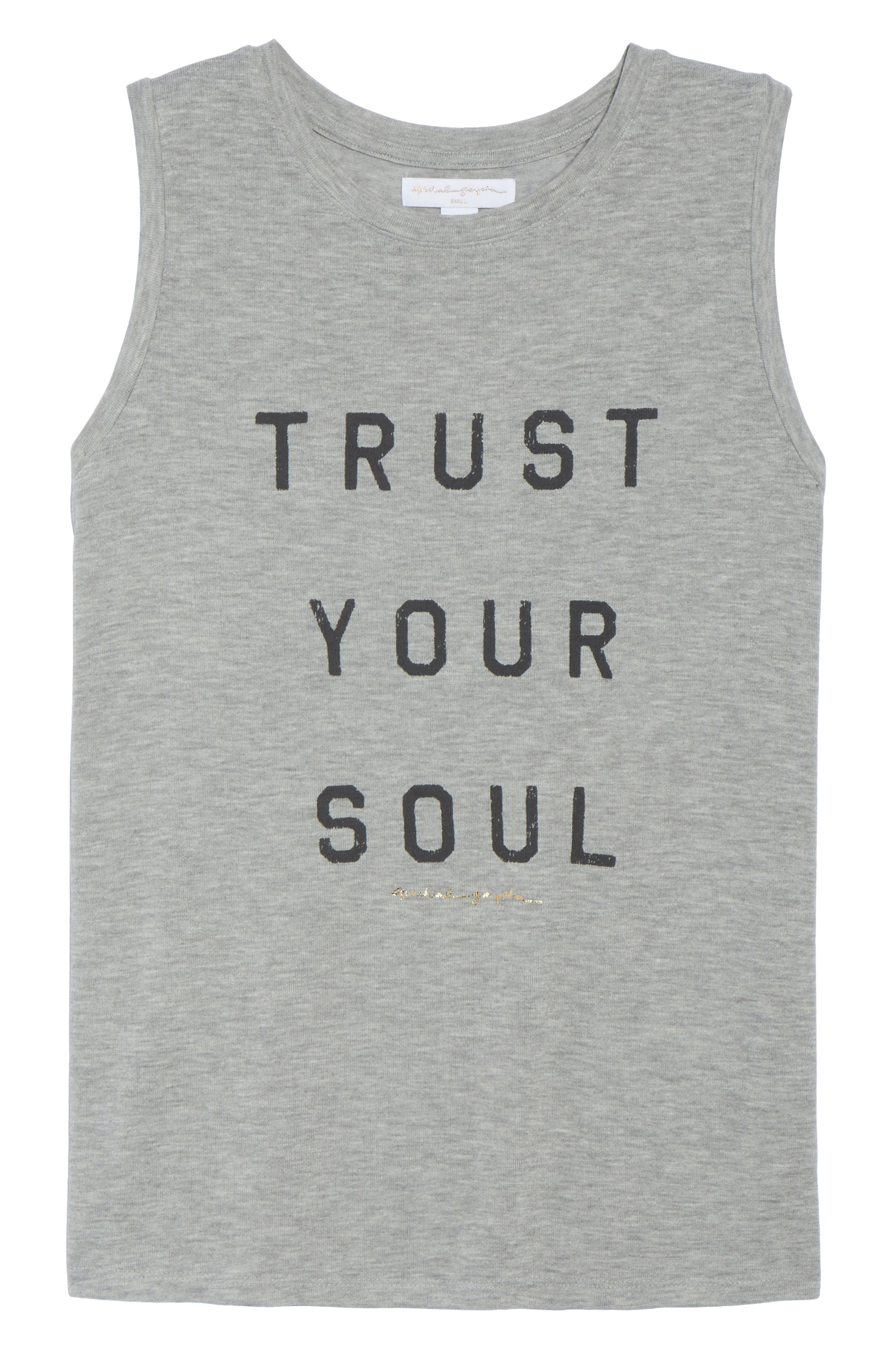 Trust Your Soul Muscle Tee,                             Alternate thumbnail 7, color,                             Heather Grey