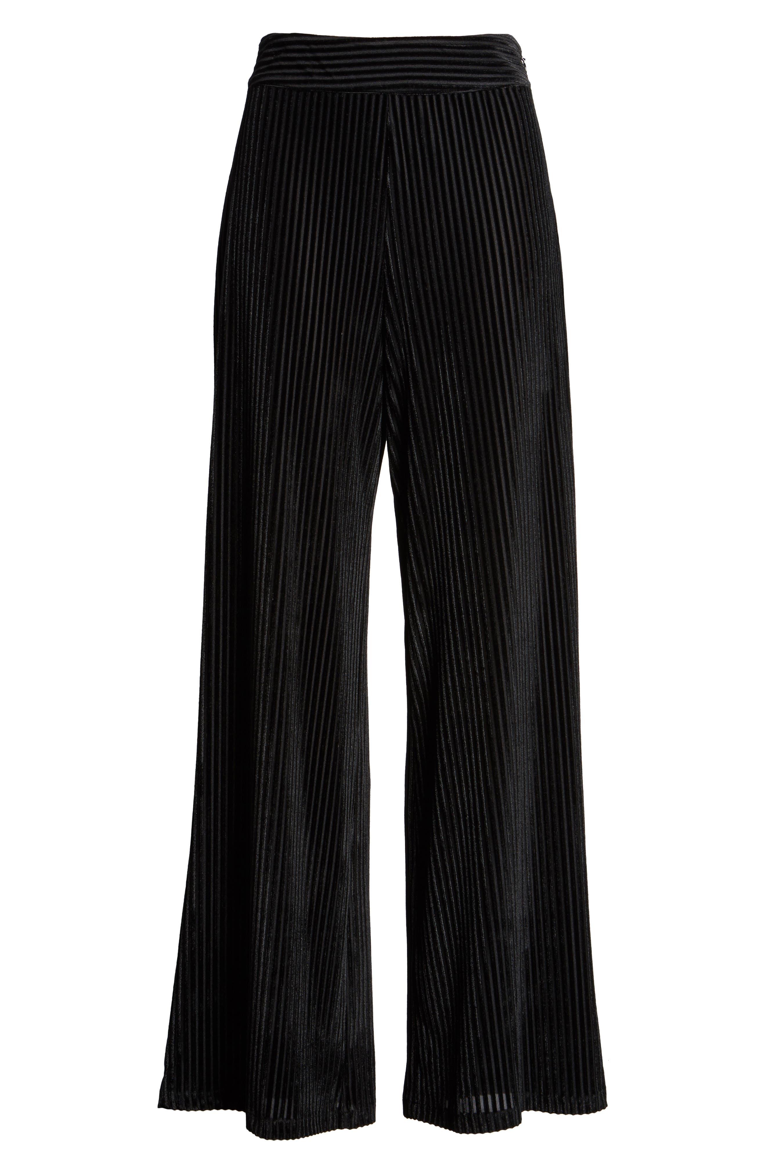 Marley Velvet Pants,                             Alternate thumbnail 6, color,                             Black