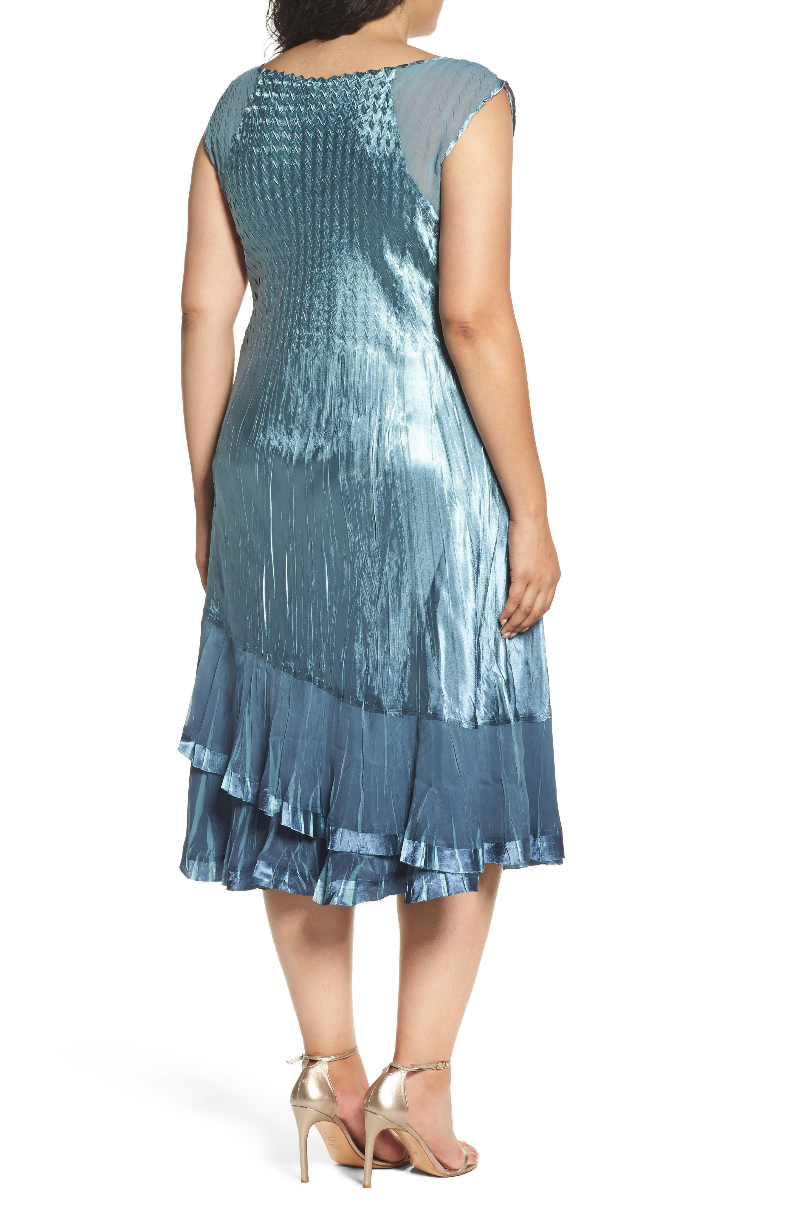 Alternate Image 4  - Komarov Tiered Dress with Jacket (Plus Size)