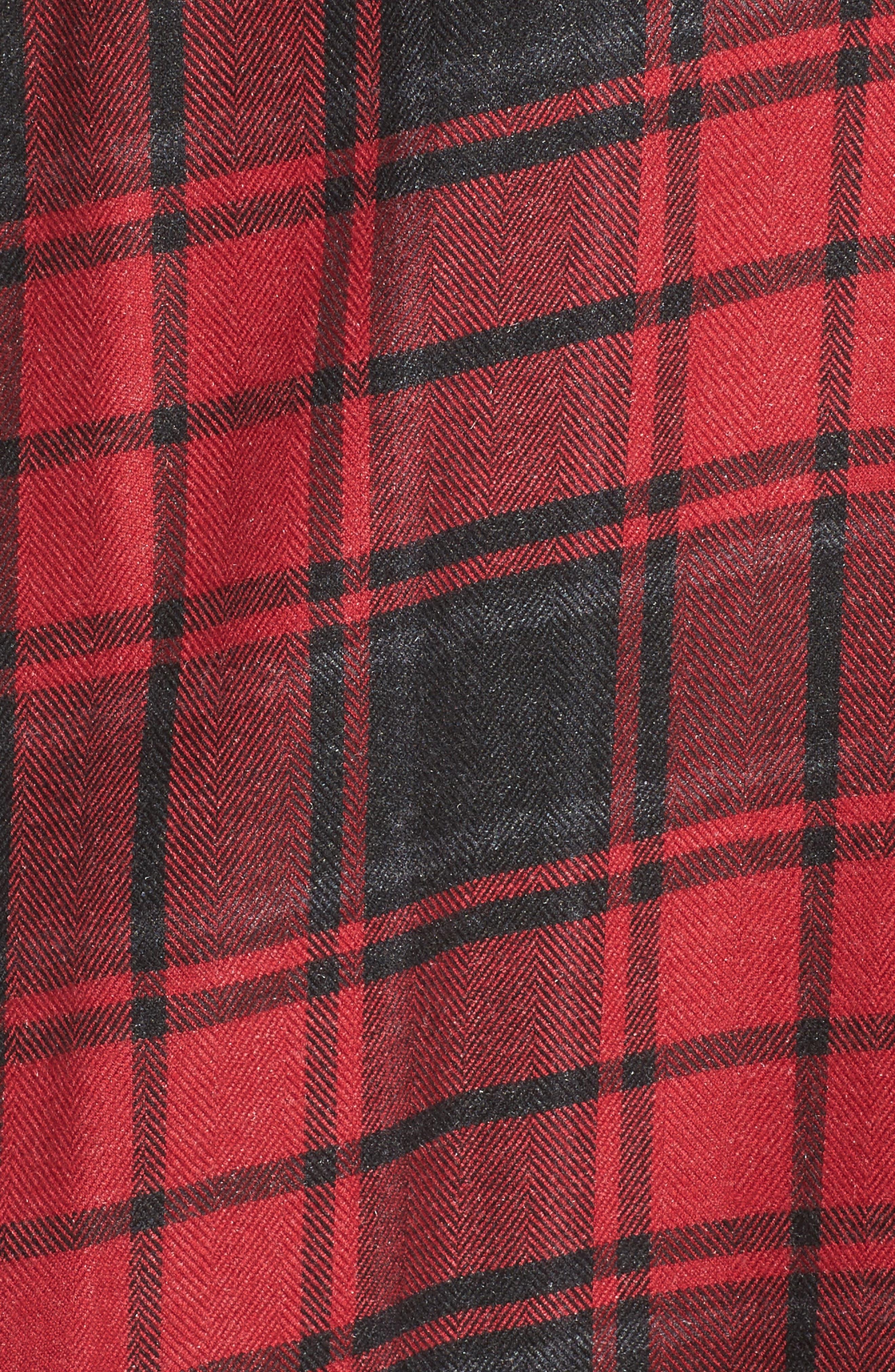 Stateside Bell Sleeve Shirt,                             Alternate thumbnail 5, color,                             Russet Red
