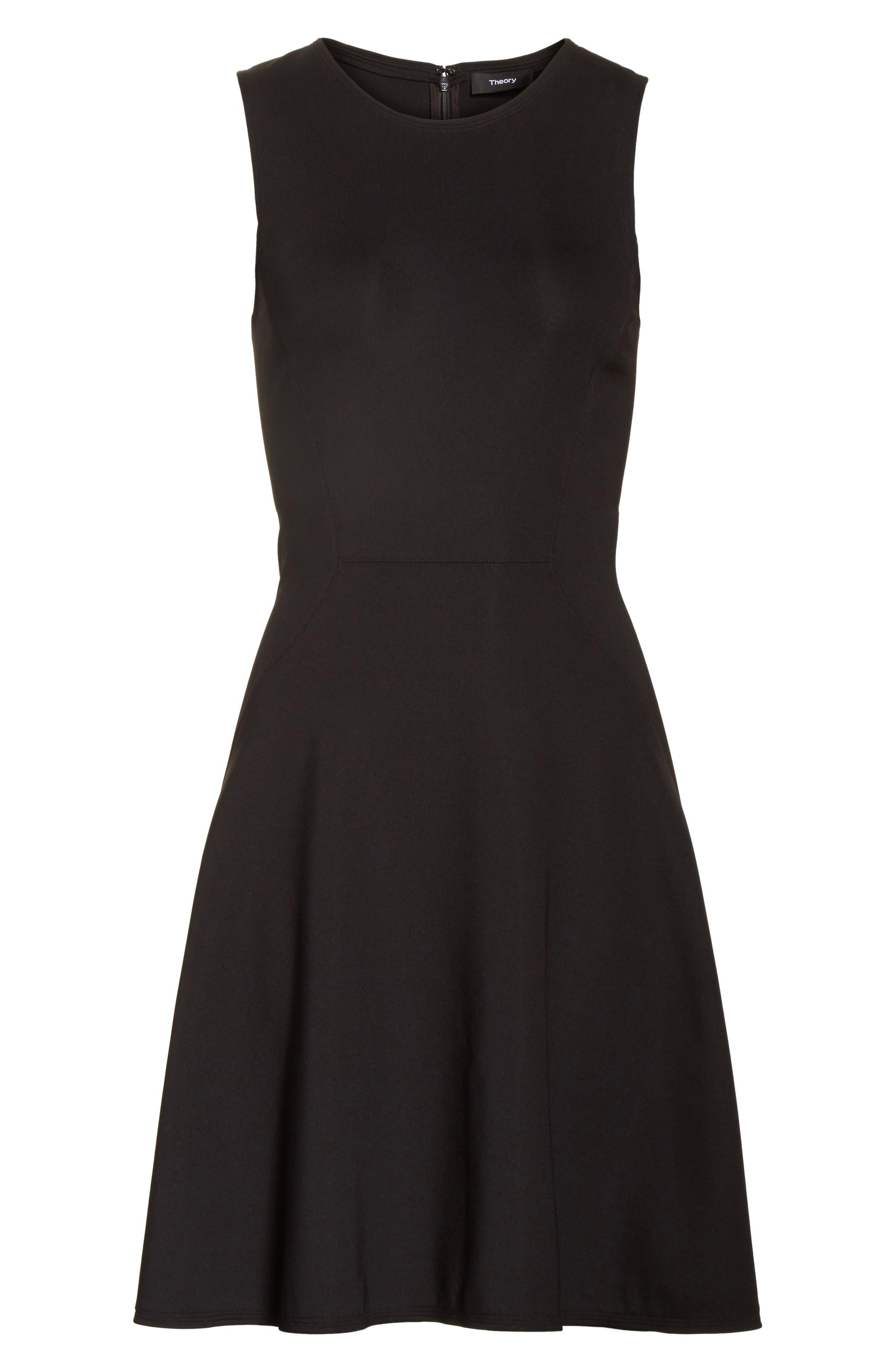 Harlock Fit & Flare Dress,                             Alternate thumbnail 6, color,                             Black