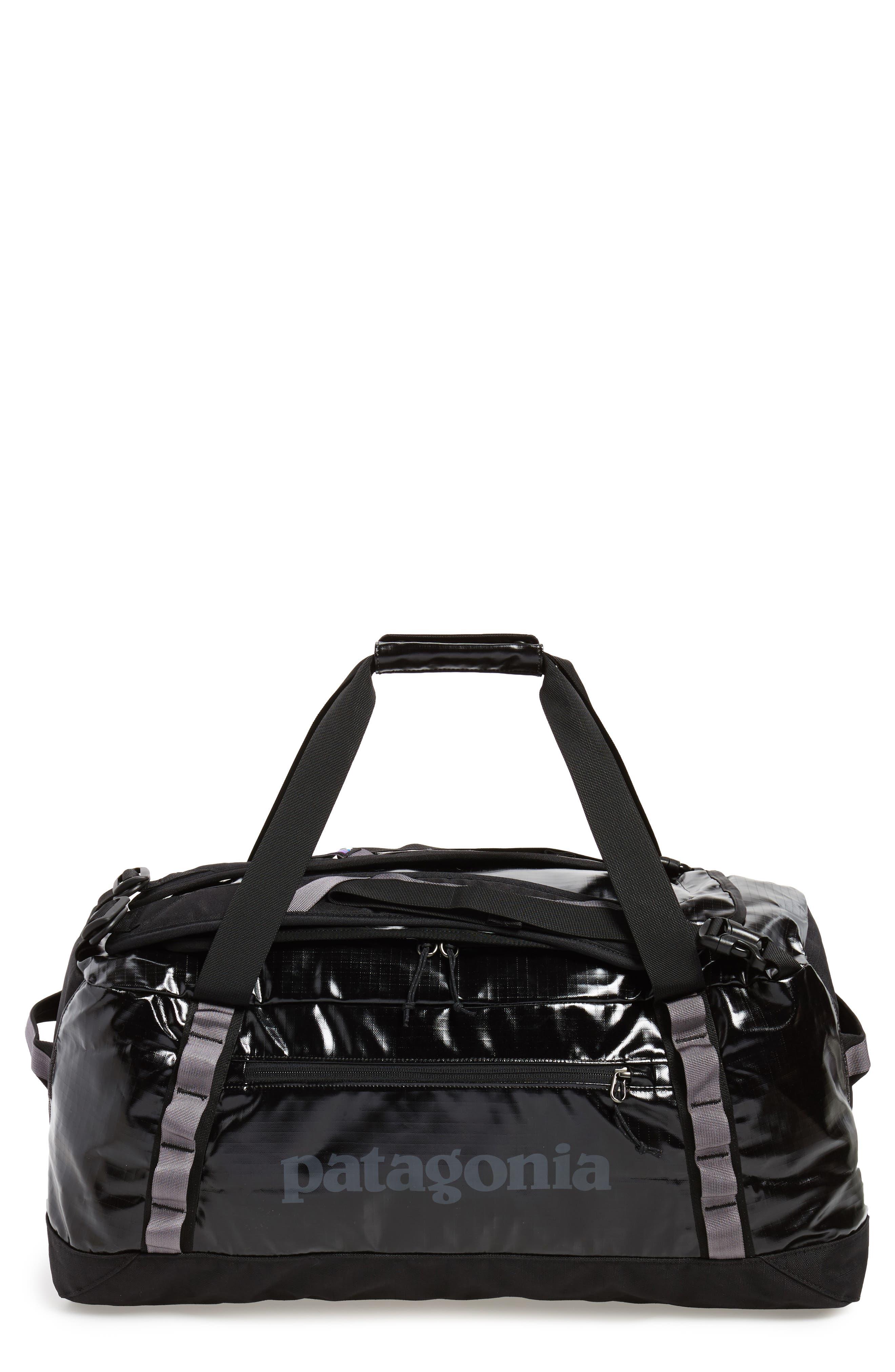 Black Hole Water Repellent Duffel Bag,                             Main thumbnail 1, color,                             Black