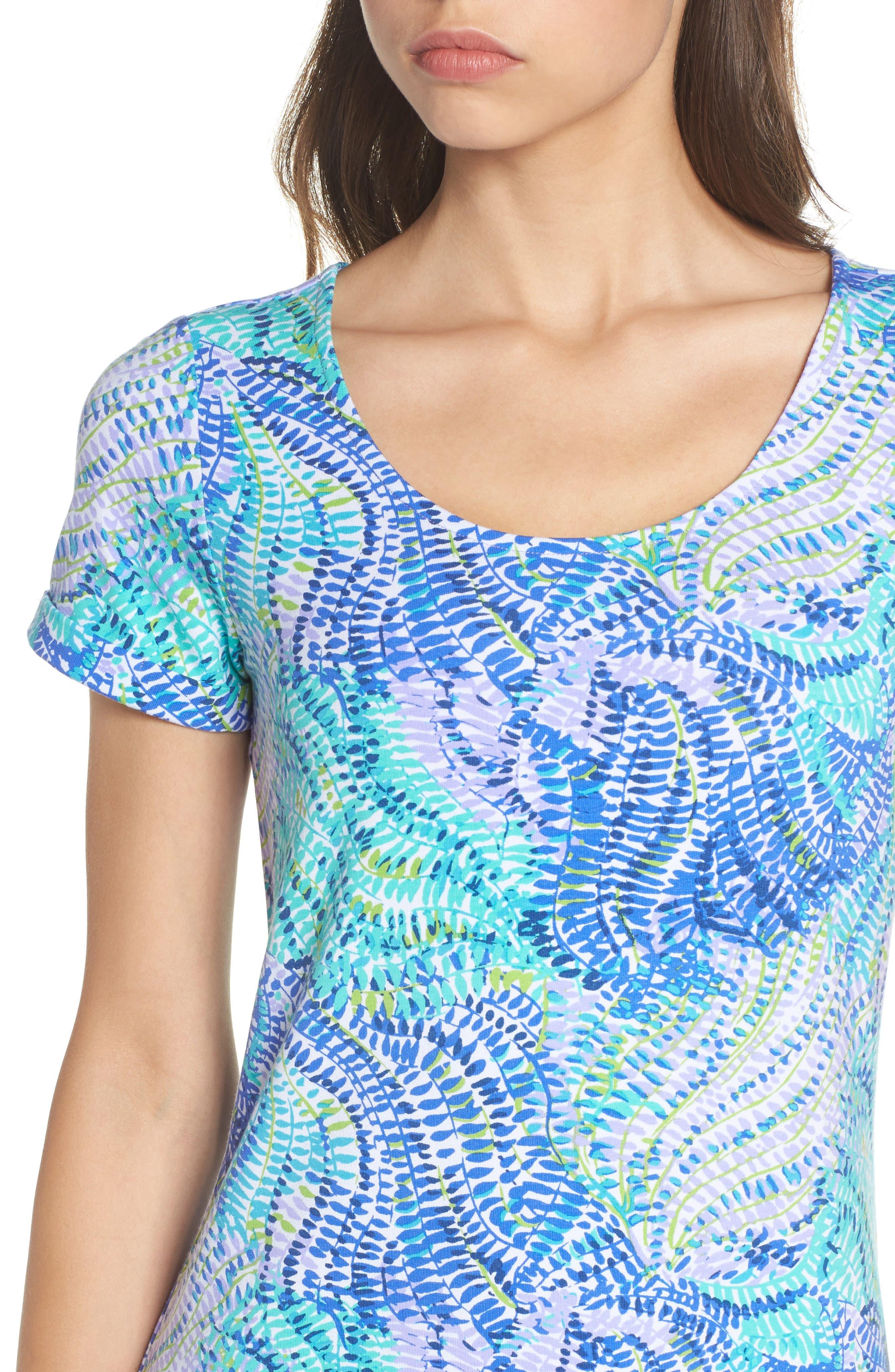 Tammy UPF 50 Dress,                             Alternate thumbnail 4, color,                             Blue Current