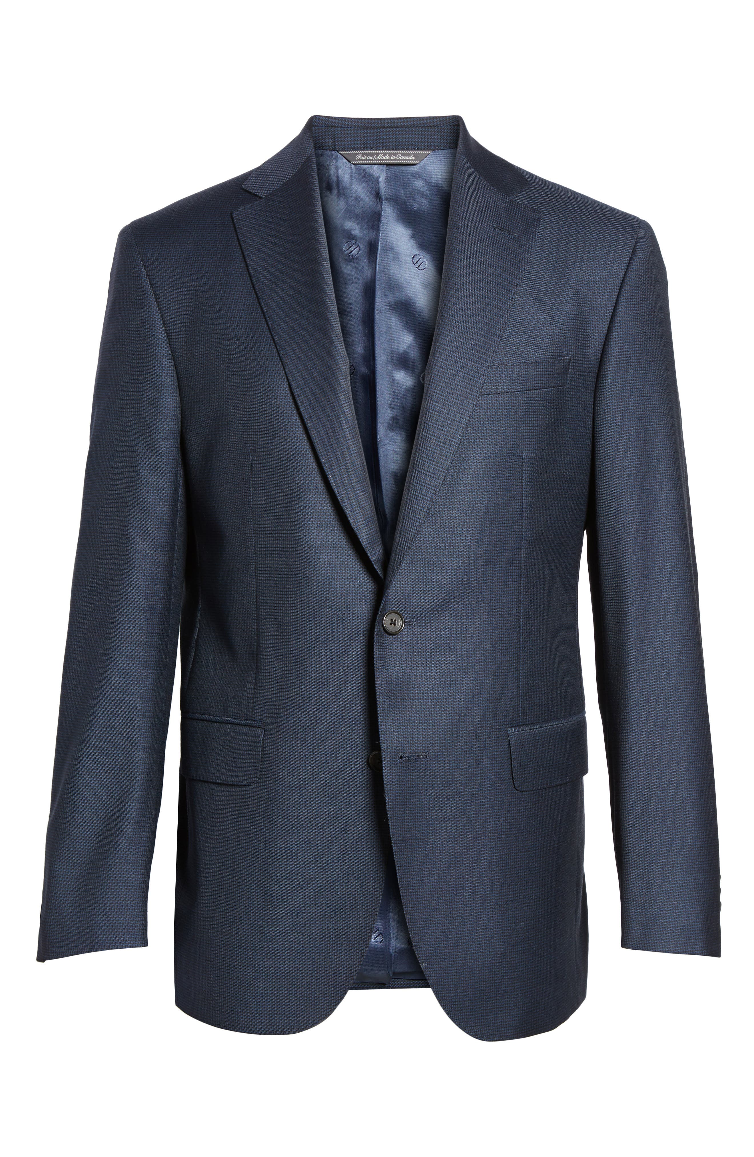 Ryan Classic Fit Wool Suit,                             Alternate thumbnail 8, color,                             Navy