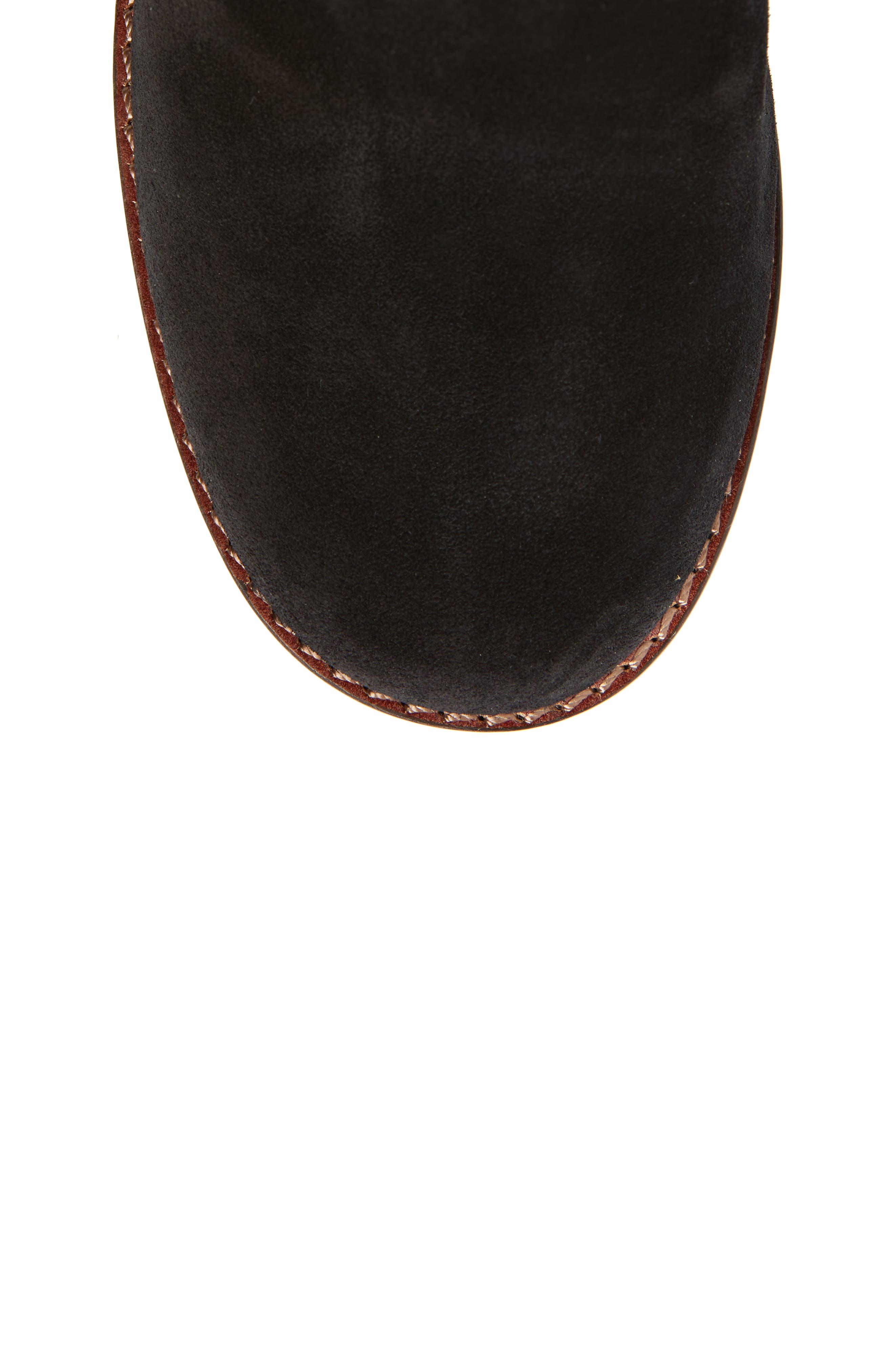 Tea Rose Heel Boot,                             Alternate thumbnail 5, color,                             Black Leather