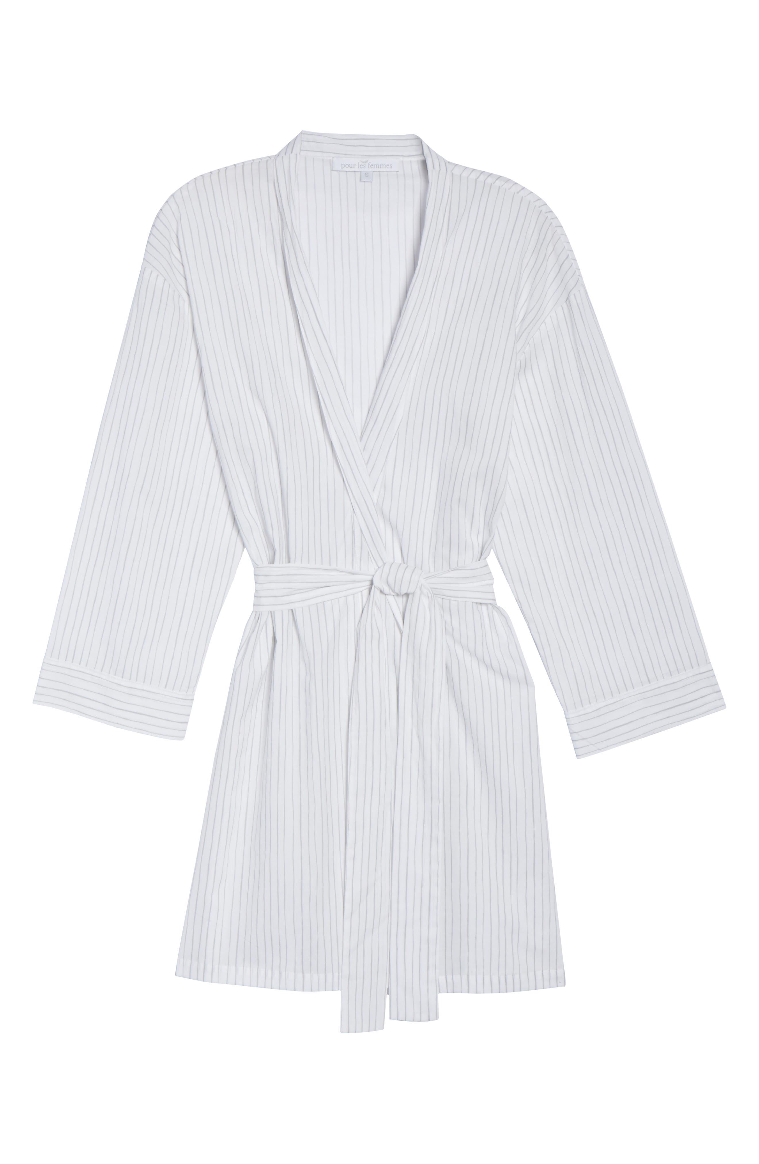 Alternate Image 6  - Pour Les Femmes Pinstripe Robe