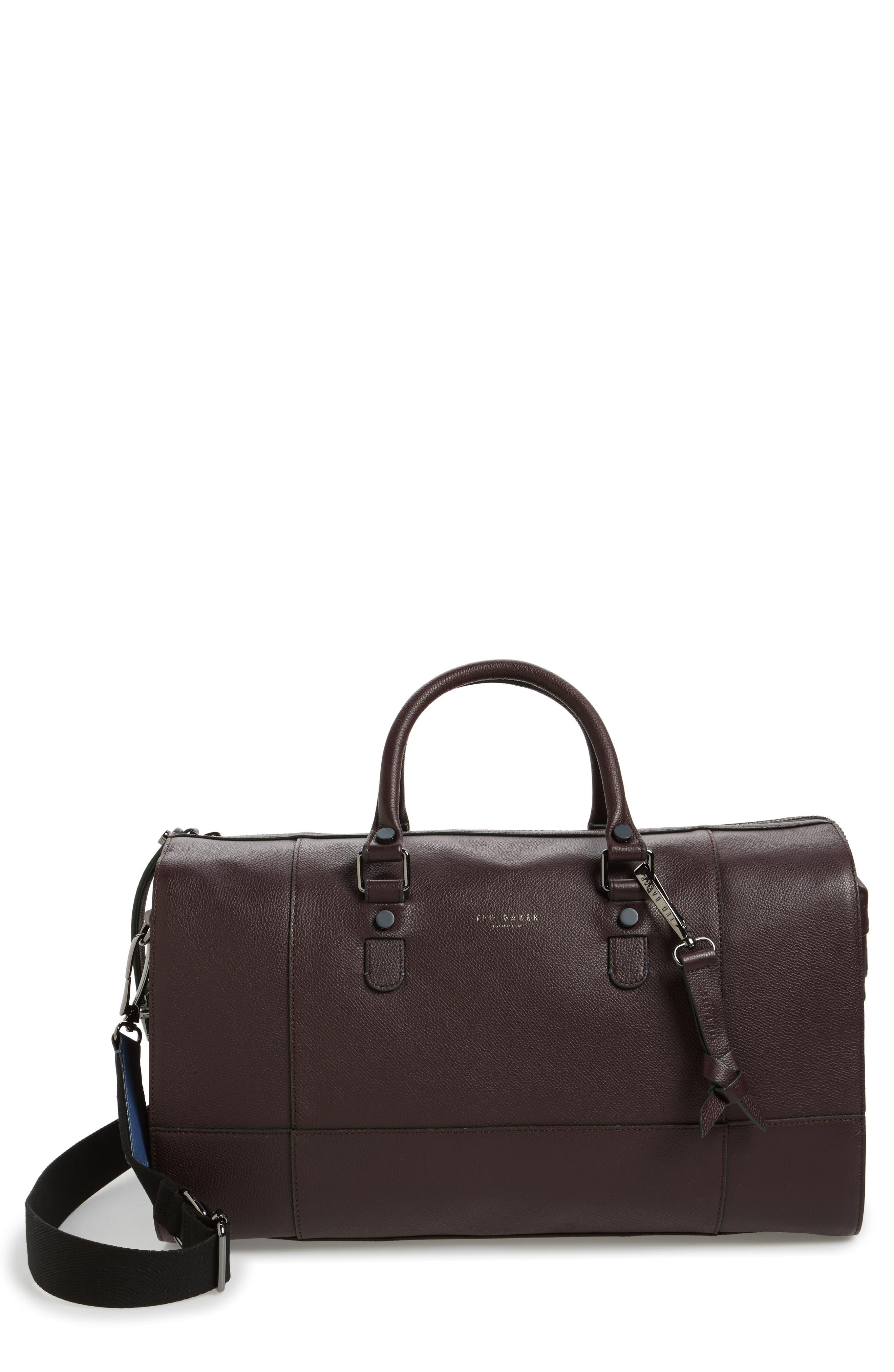 Alternate Image 1 Selected - Ted Baker London Panthea Leather Duffel Bag