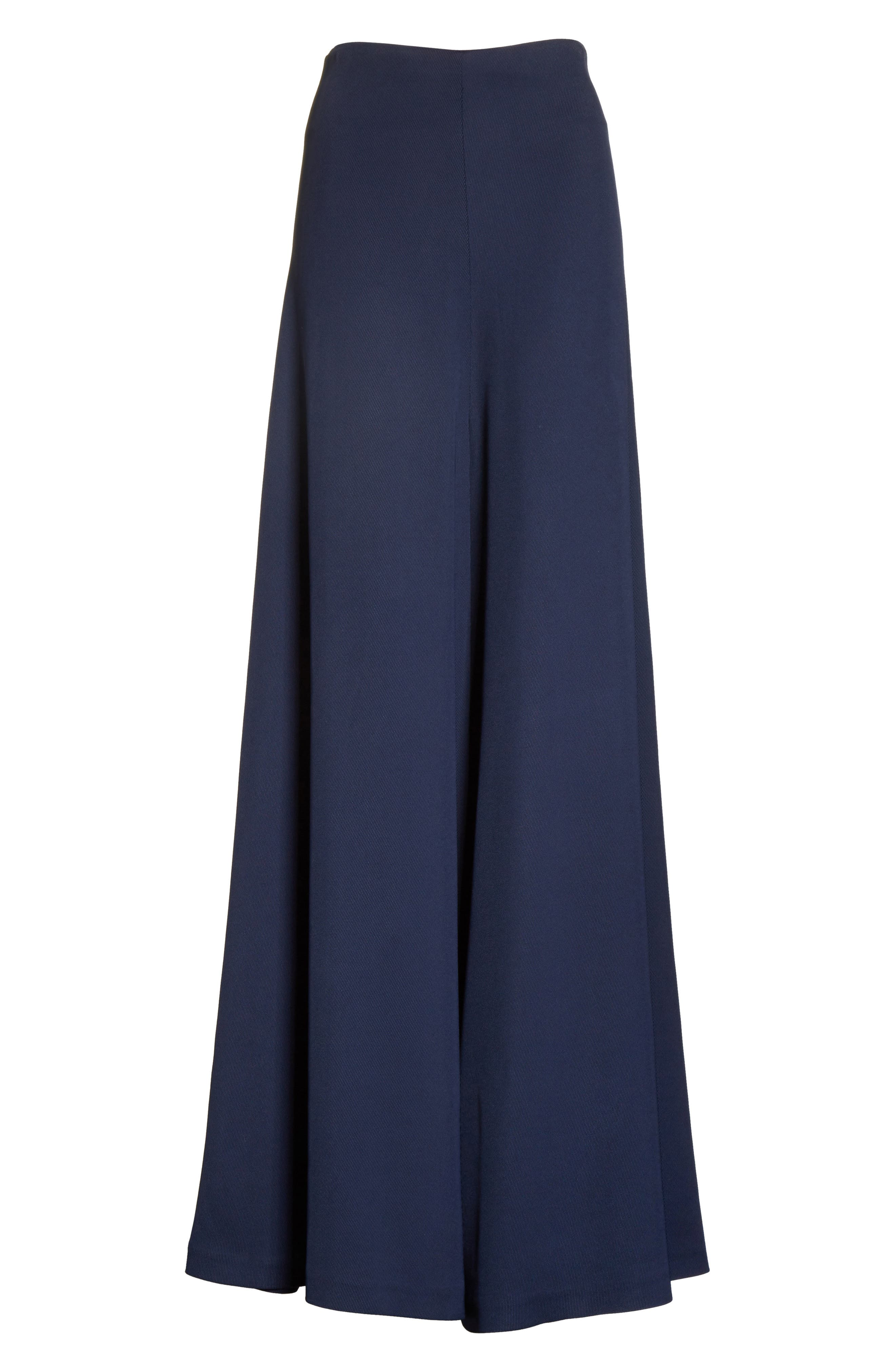 Wide Leg Trousers,                             Alternate thumbnail 6, color,                             Navy
