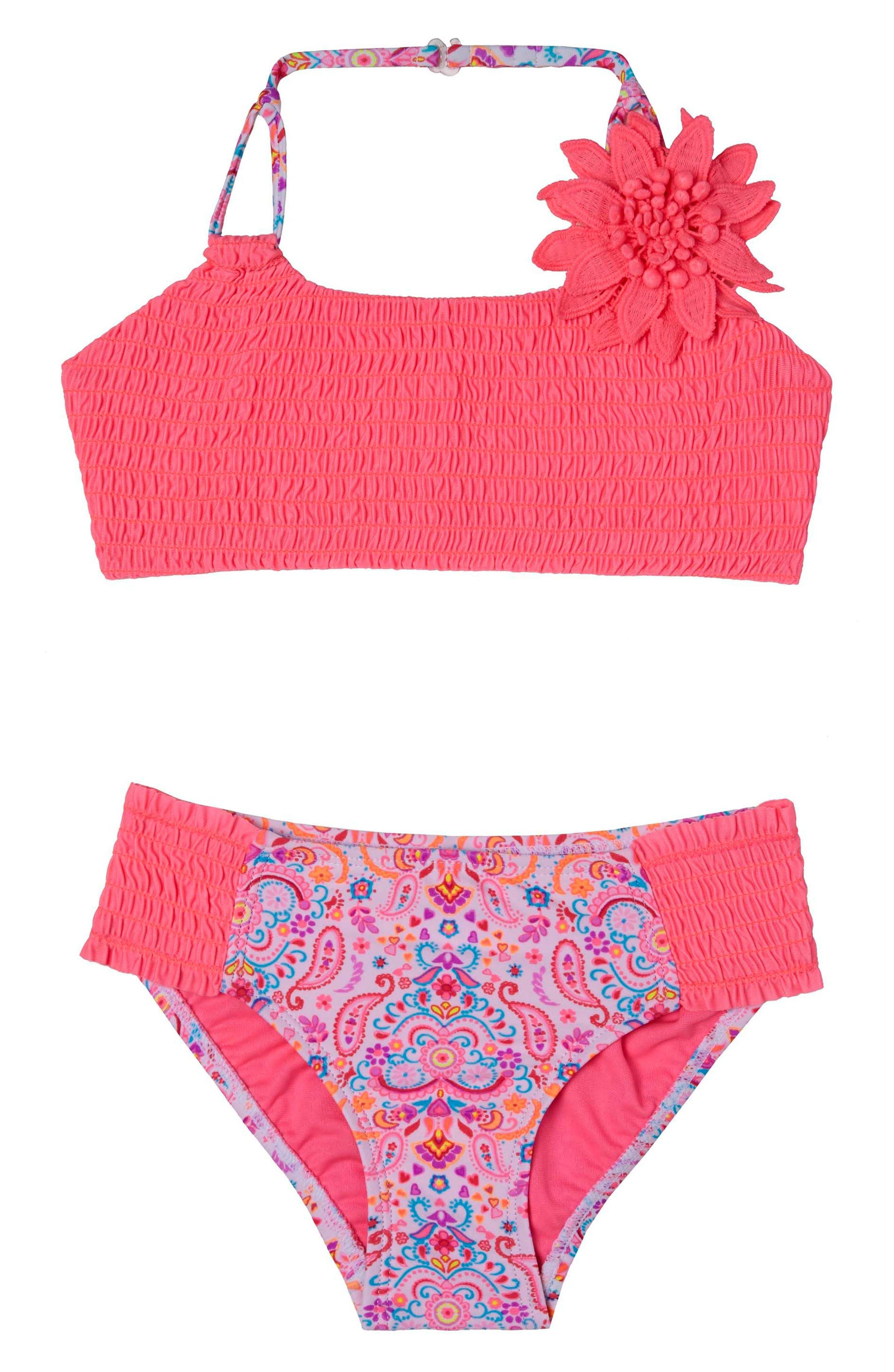 Hula Star Pretty PaisleyTwo-Piece Swimsuit (Toddler Girls & Little Girls)