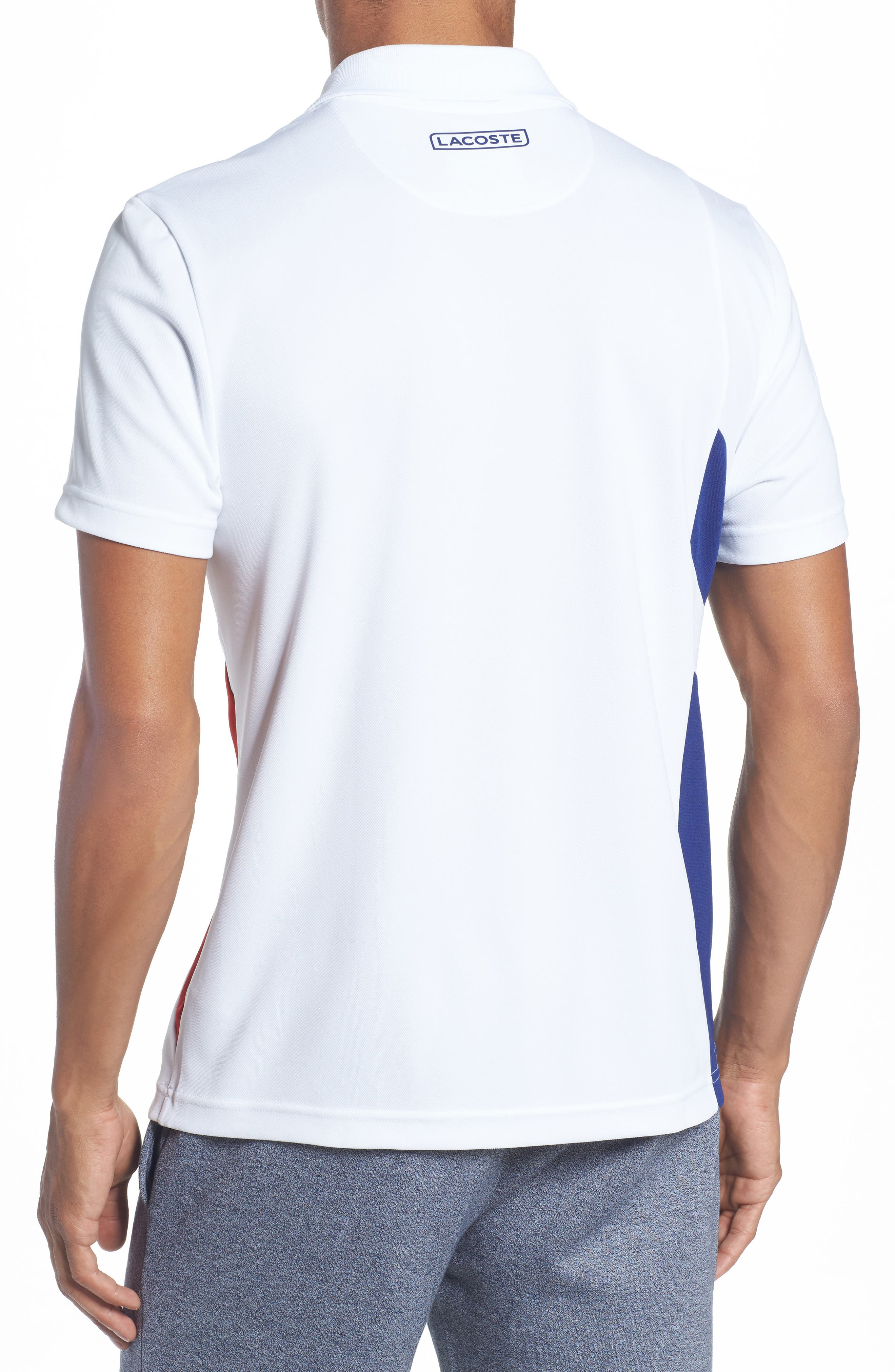 Alternate Image 2  - Lacoste Asymmetrical Colorblocked Polo