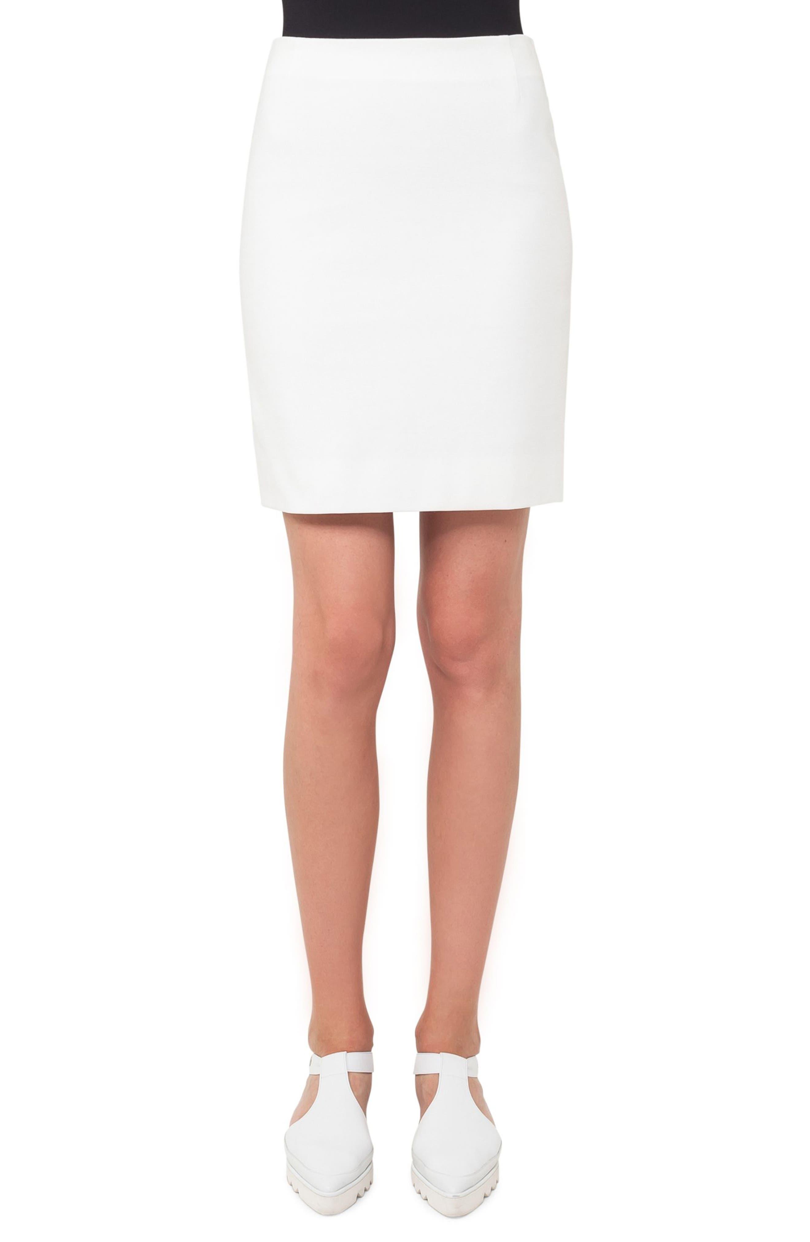 Jersey Miniskirt,                         Main,                         color, Cream