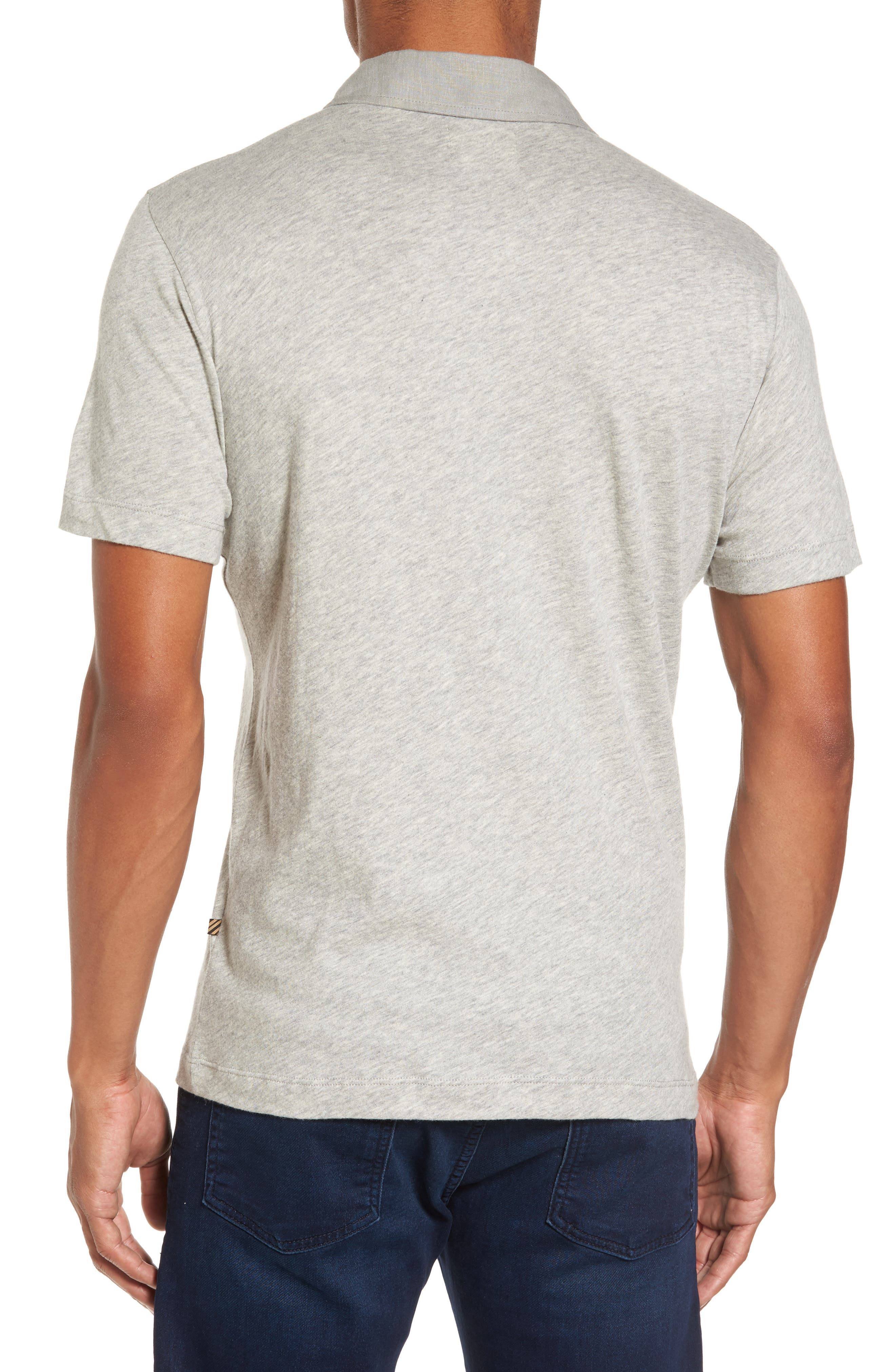 Standard Fit Jersey Polo,                             Alternate thumbnail 2, color,                             Light Heather Grey