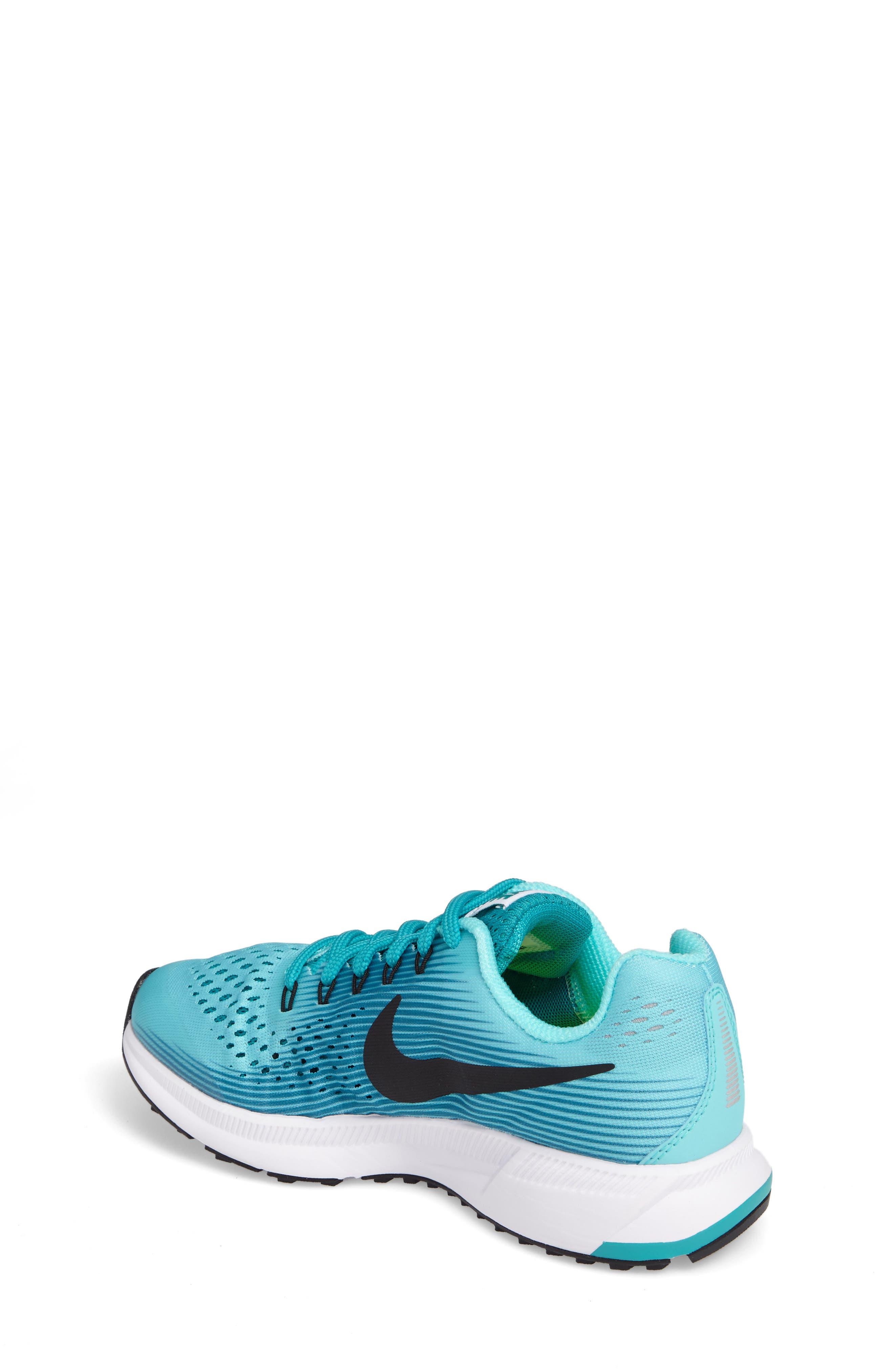 Alternate Image 2  - Nike Zoom Pegasus 34 Sneaker (Little Kid & Big Kid)