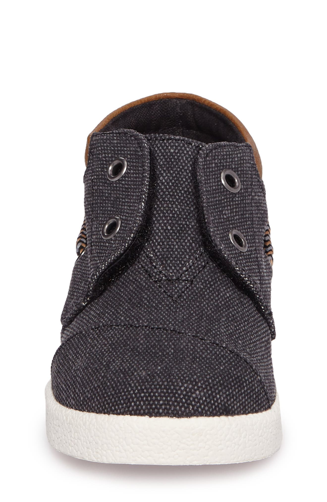 'Bimini - Tiny' Slip-On,                             Alternate thumbnail 4, color,                             Black Washed Canvas