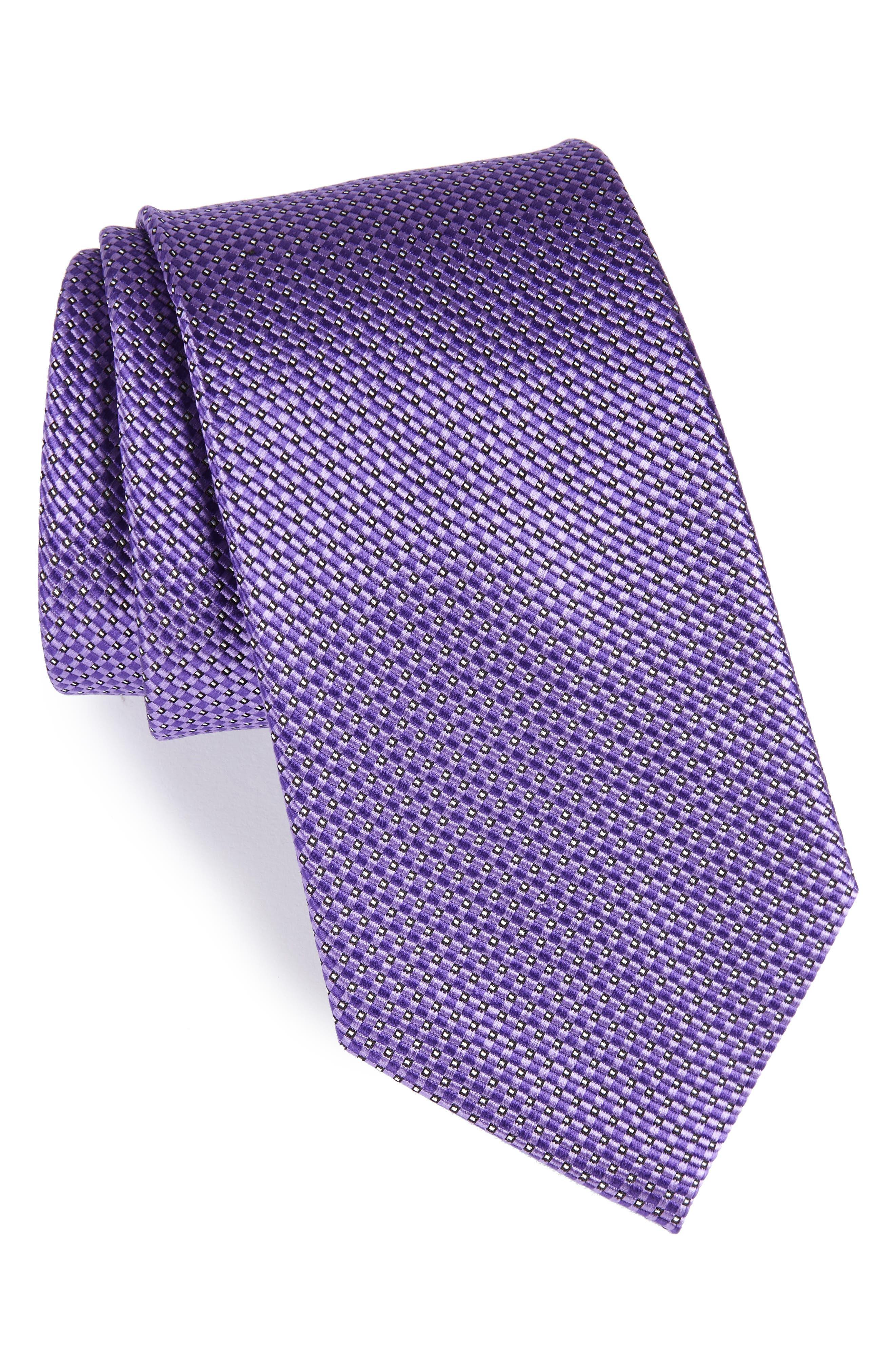 Nordstrom Men's Shop Microgrid Silk Tie (X-Long)