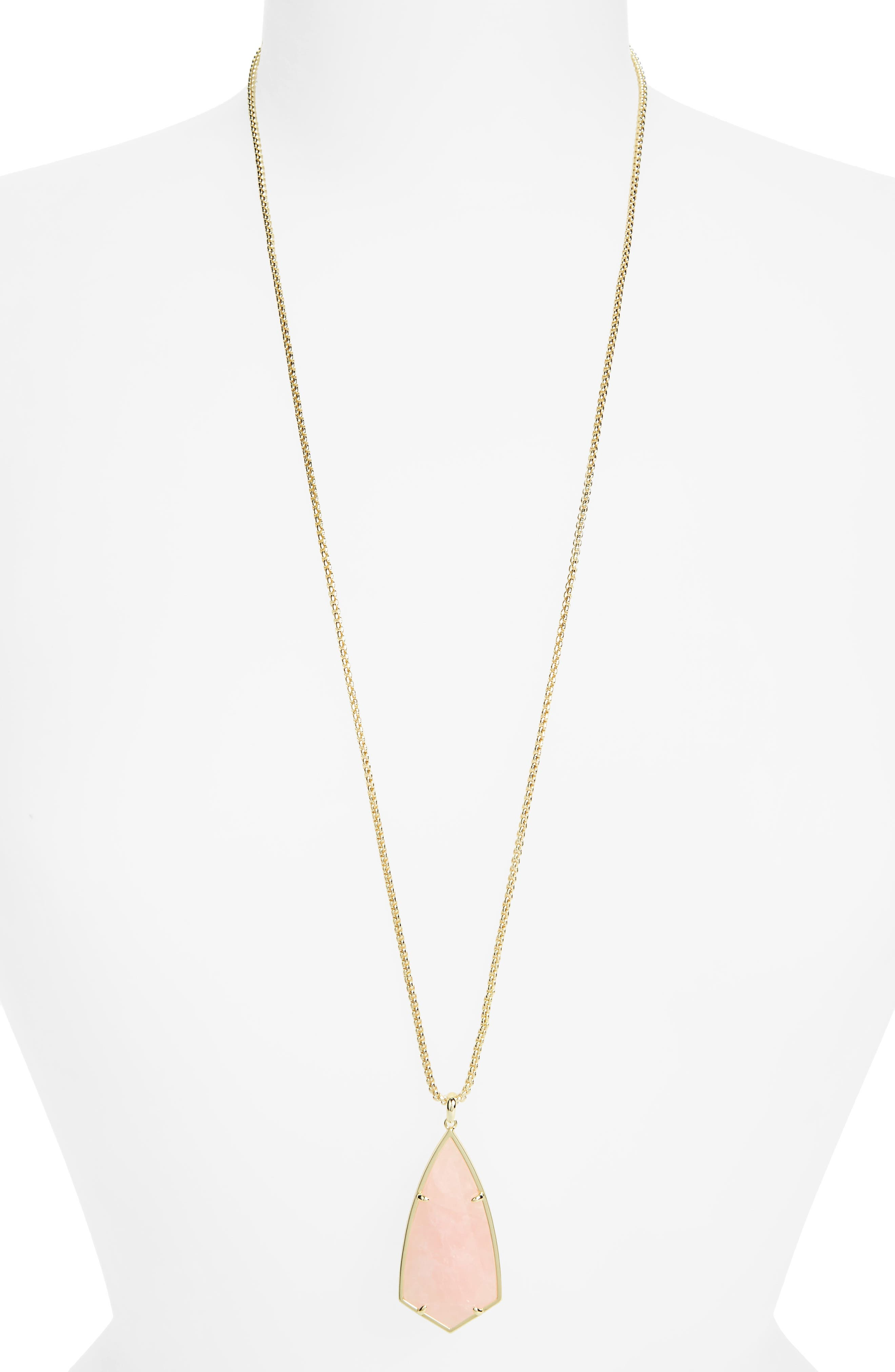 Kendra Scott Carole Long Semiprecious Stone Pendant Necklace
