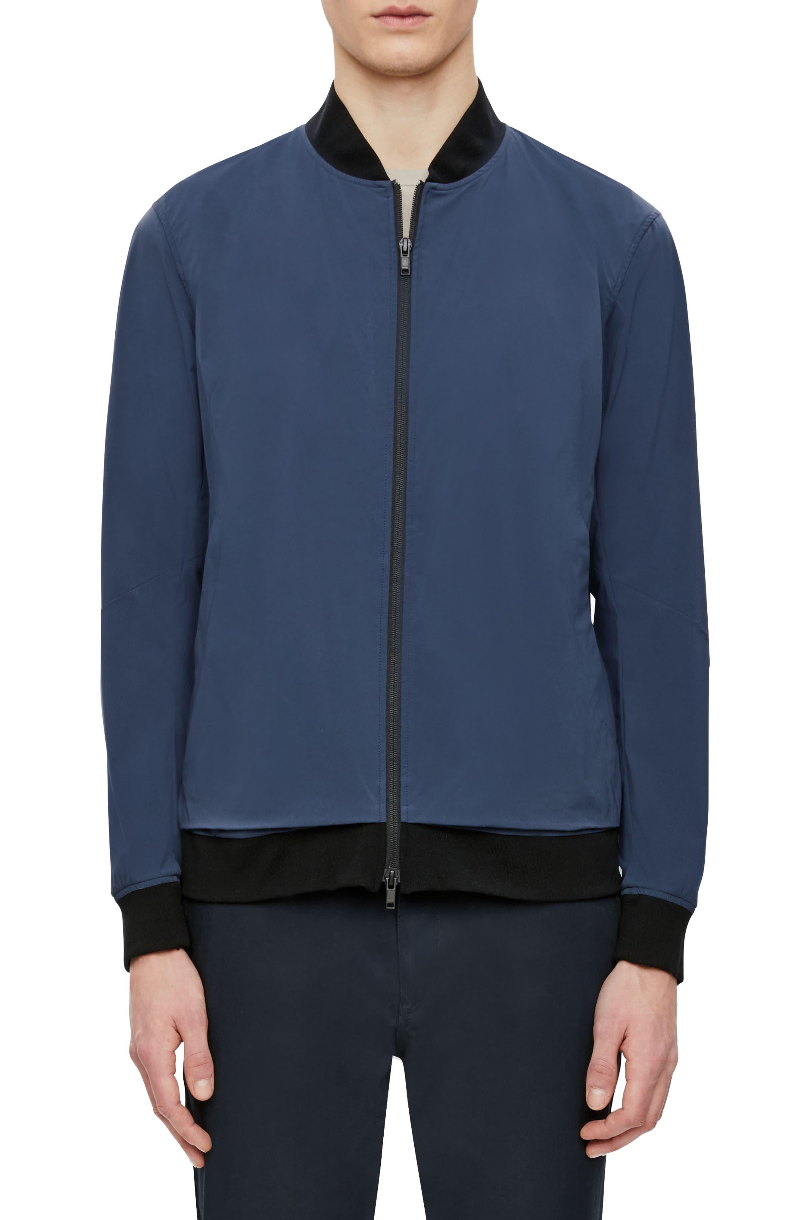 Bomber Jacket,                         Main,                         color, Deep Blue