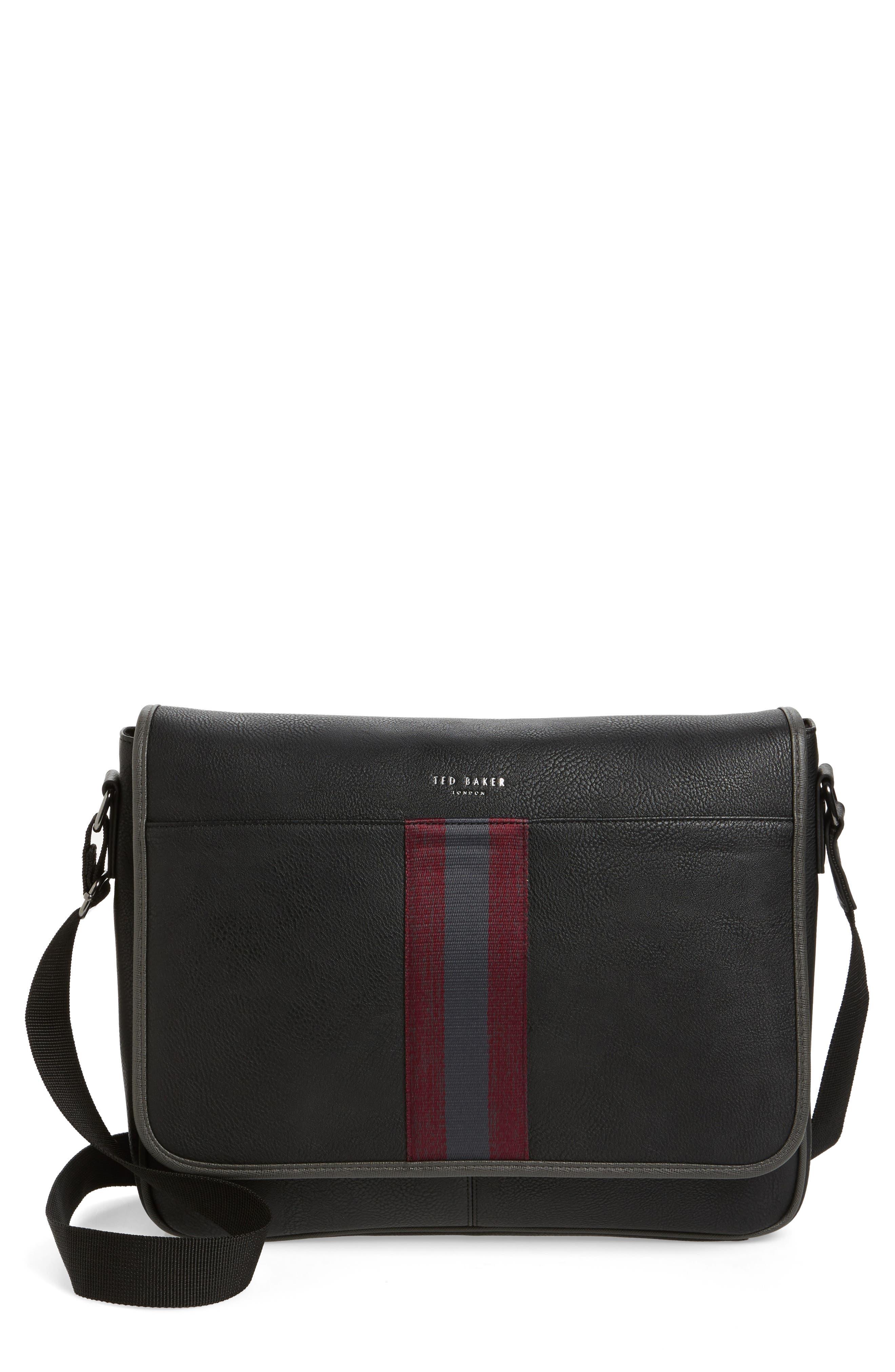 Buzard Messenger Bag,                             Main thumbnail 1, color,                             Black