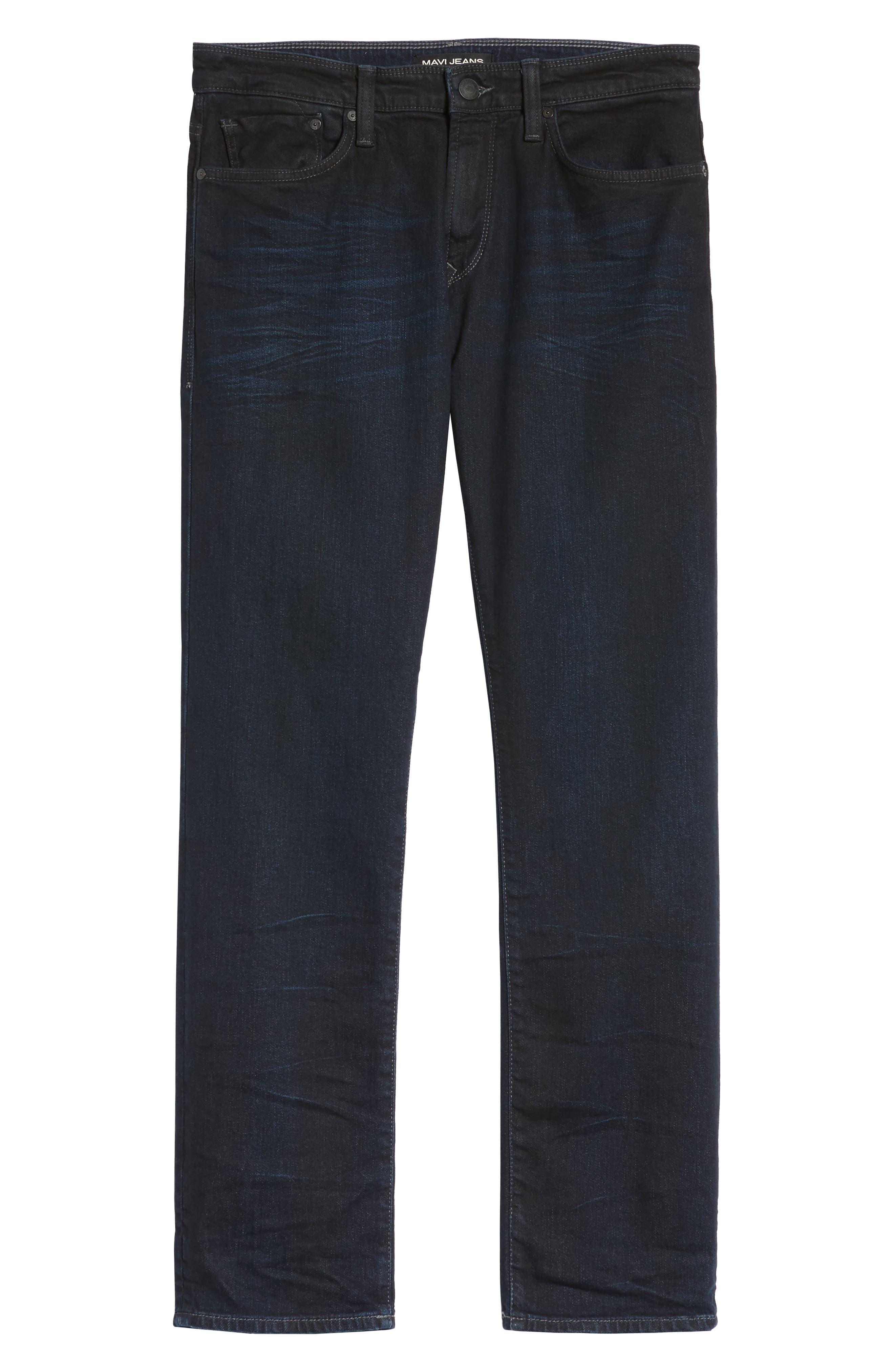 Alternate Image 6  - Mavi Jeans Zach Straight Leg Jeans (Coated Authentic Vintage)