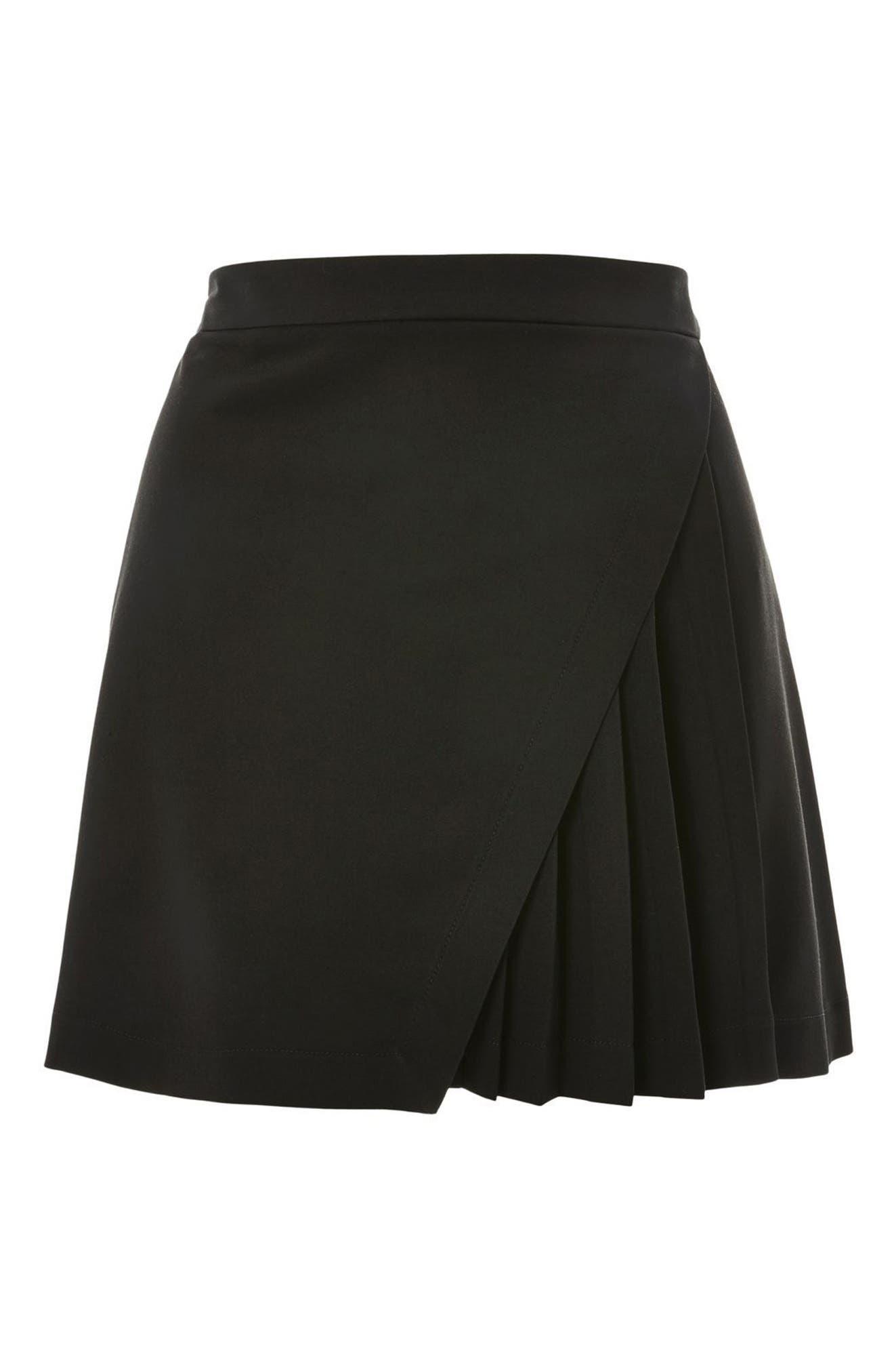 Alternate Image 3  - Topshop Pleated Panel Miniskirt