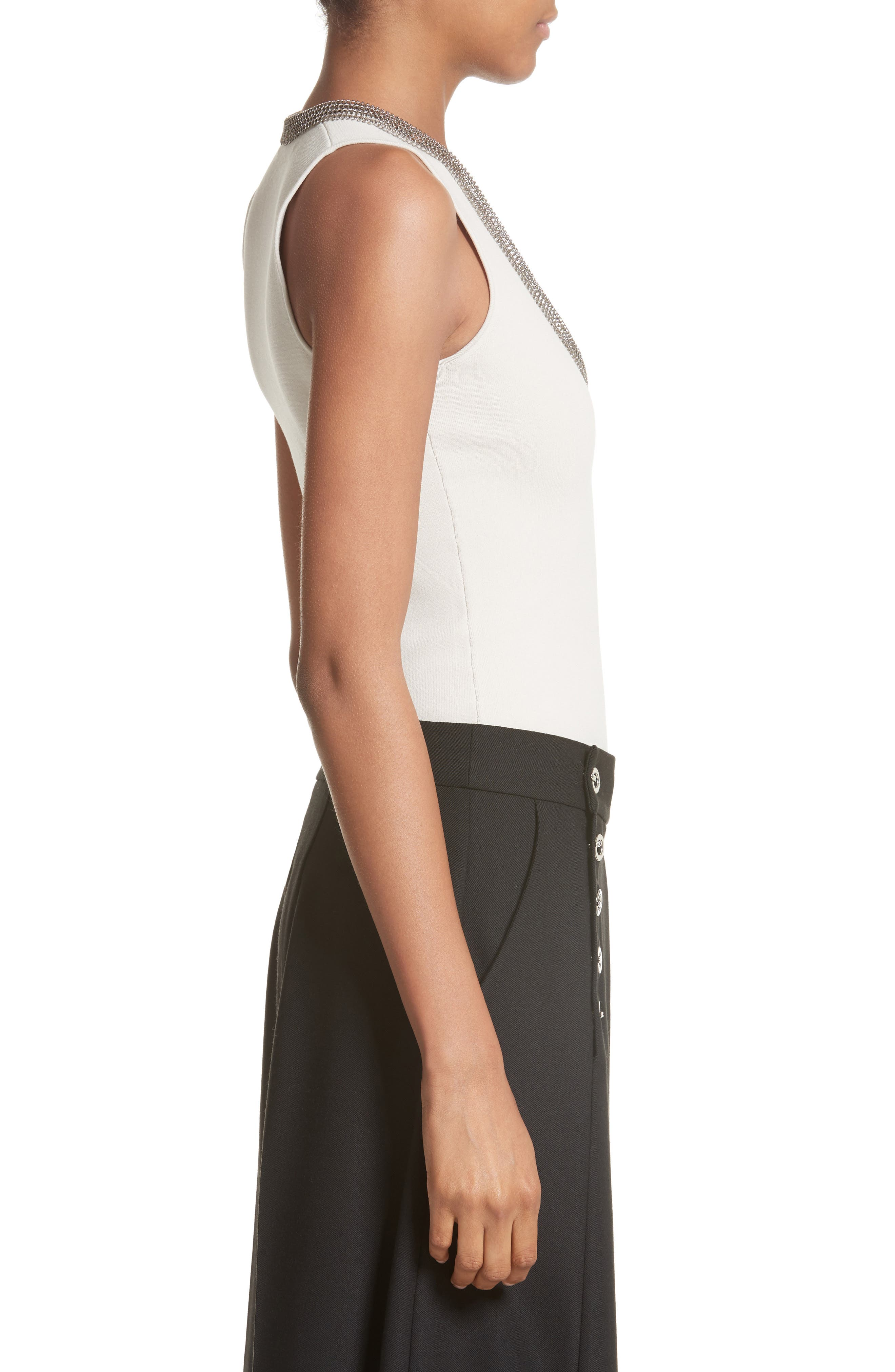 Alternate Image 3  - Alexander Wang Chain Mail Trim Tank