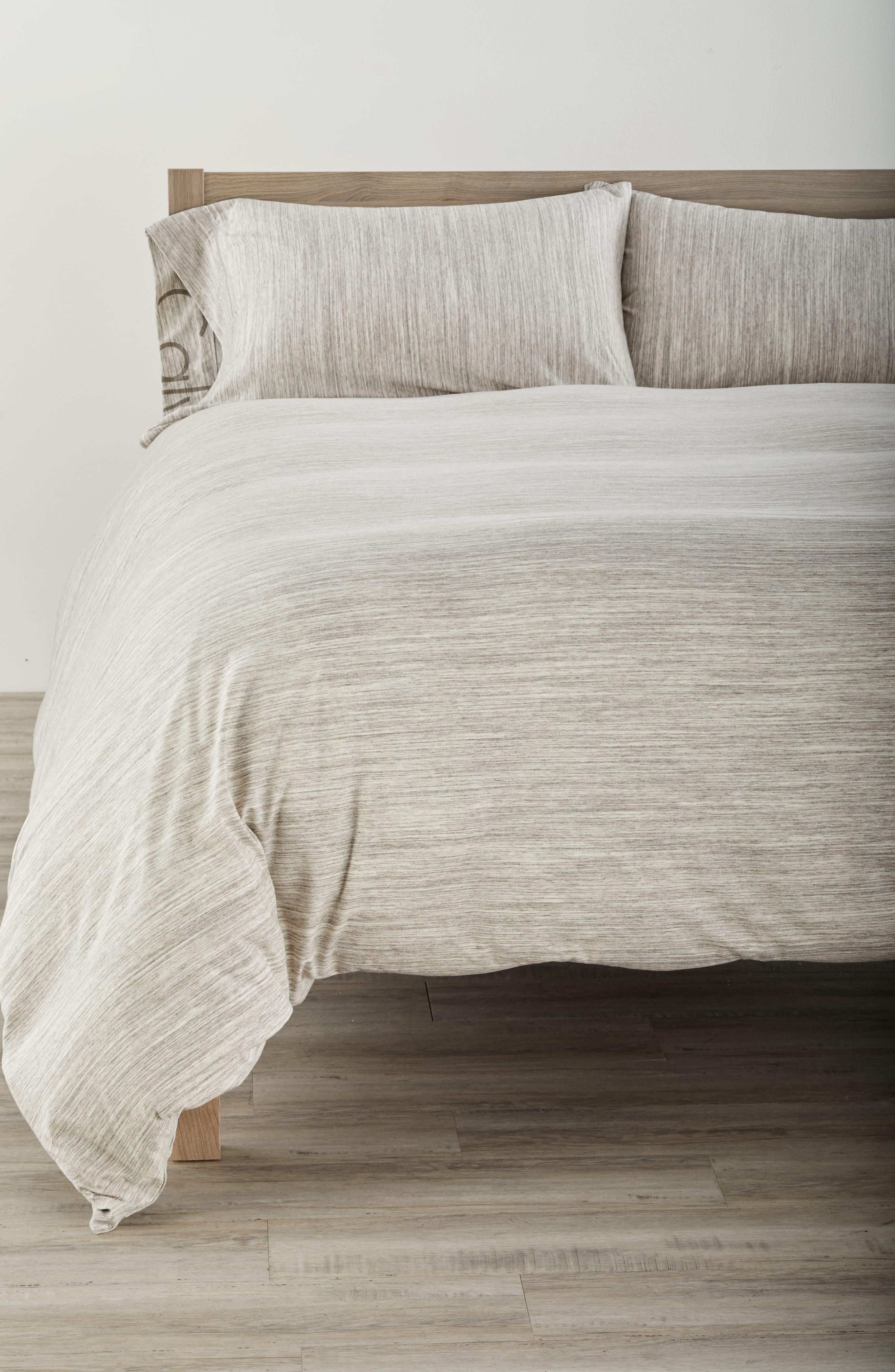 Strata Duvet Cover,                         Main,                         color, Sand Wash