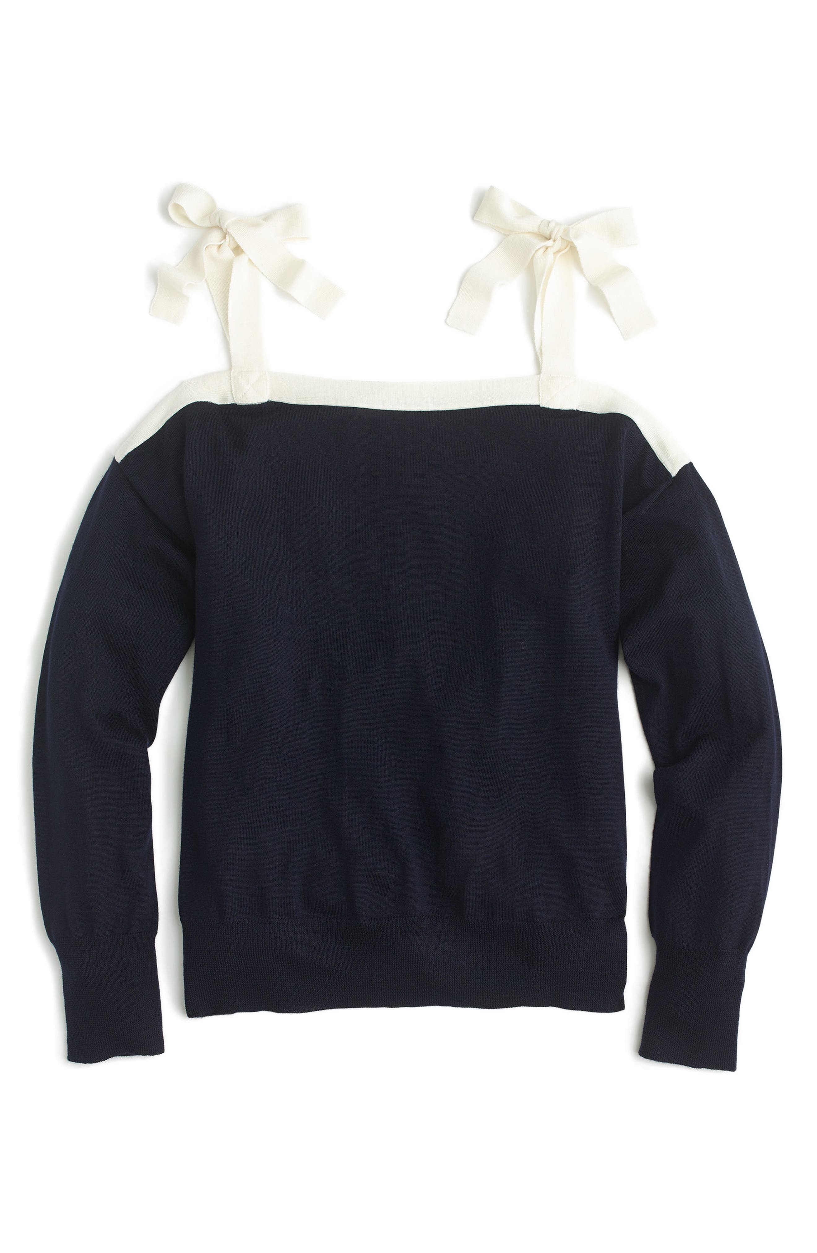 J.Crew Cold Shoulder Merino Wool Sweater