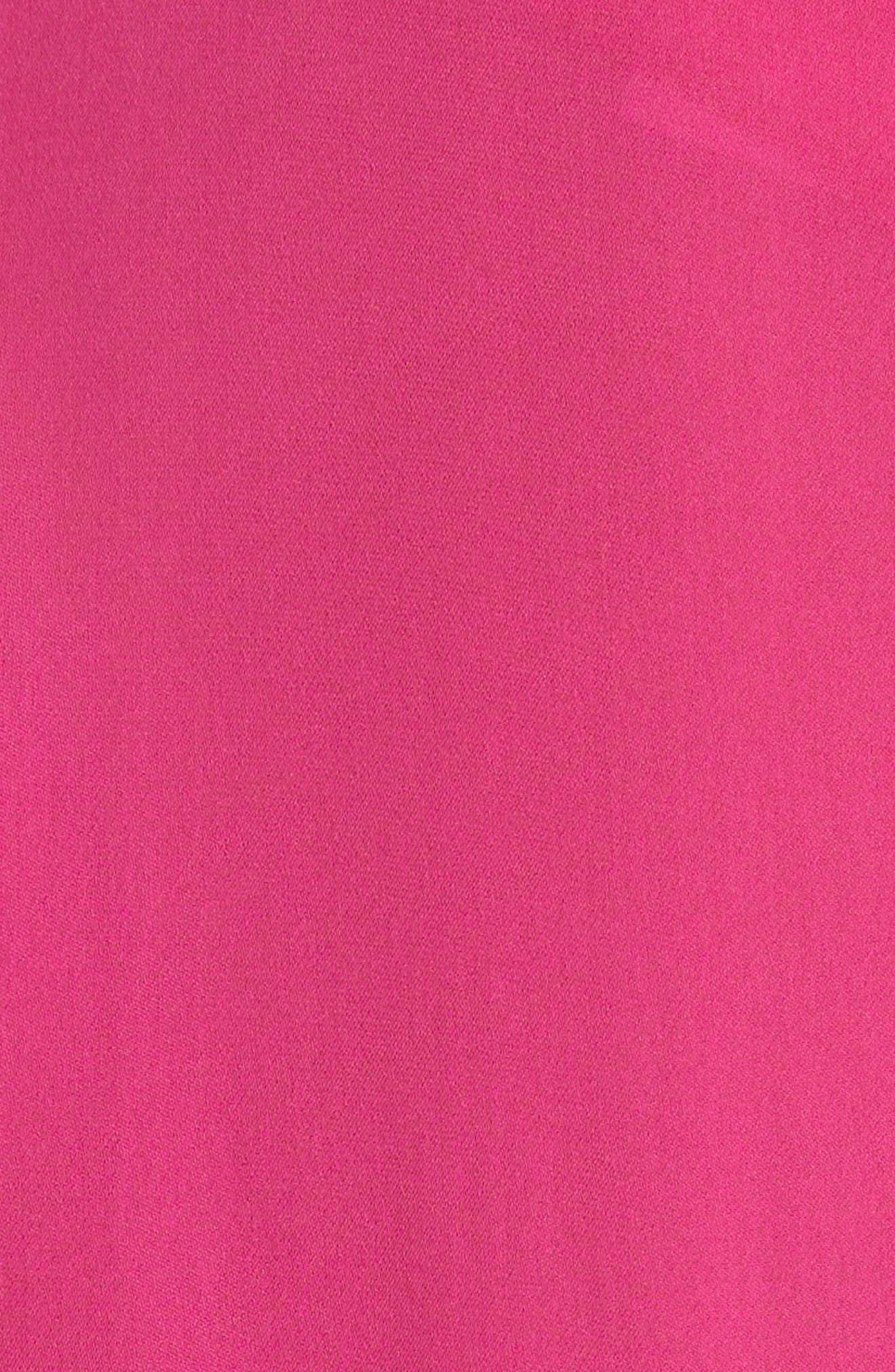 Bernice Ruffle Sleeve Silk Top,                             Alternate thumbnail 5, color,                             Fuchsia