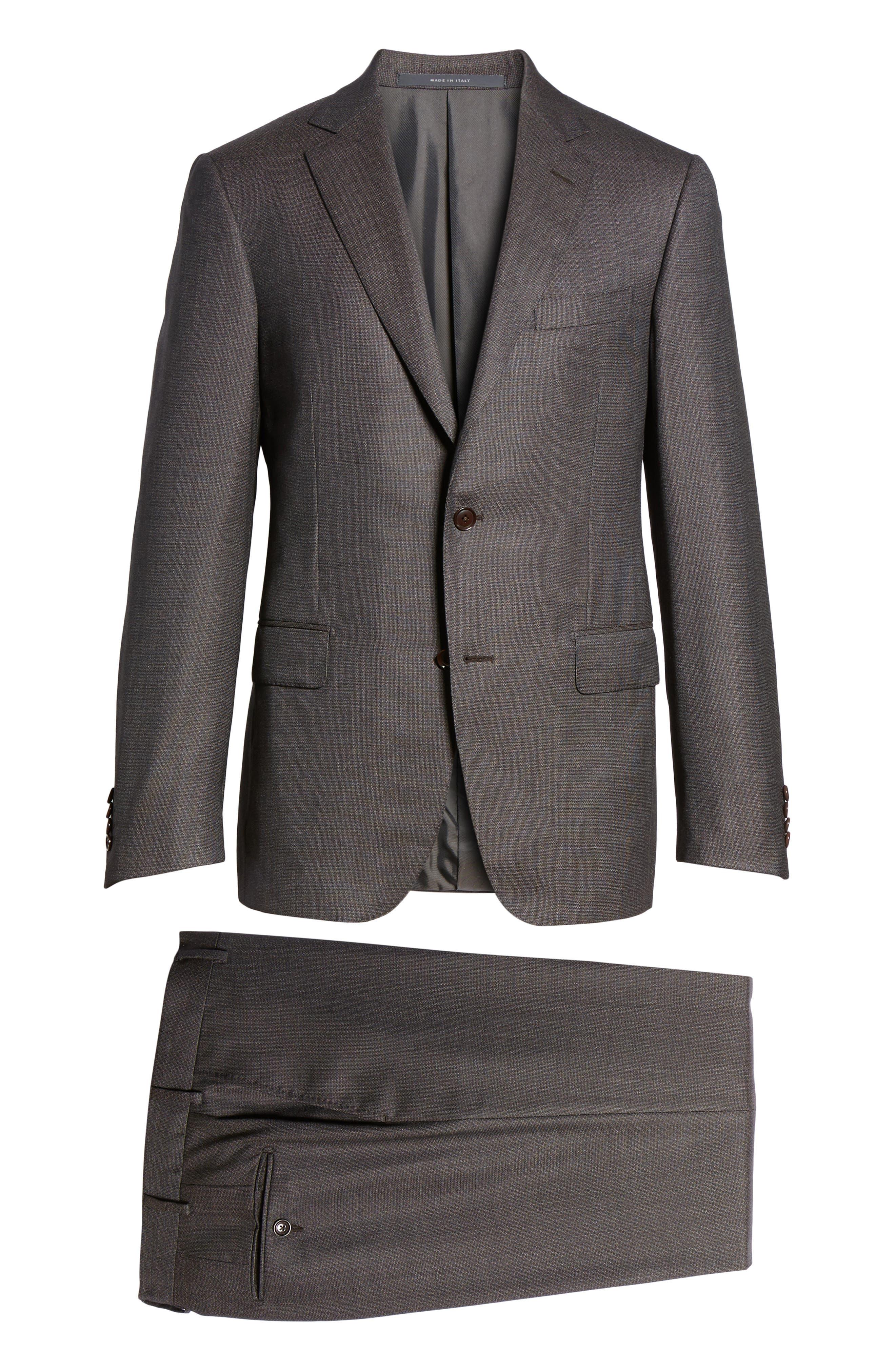 Alternate Image 8  - Pal Zileri Classic Fit Micro Weave Wool Suit