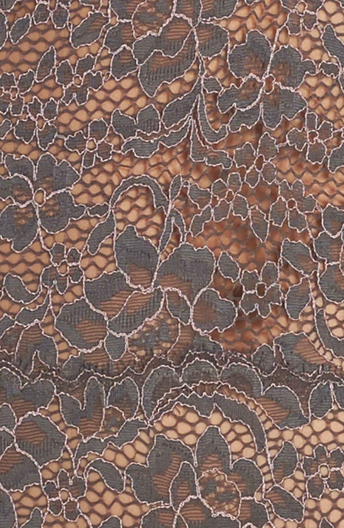 Pret Thong Bodysuit,                             Alternate thumbnail 4, color,                             Graphite/ Stone
